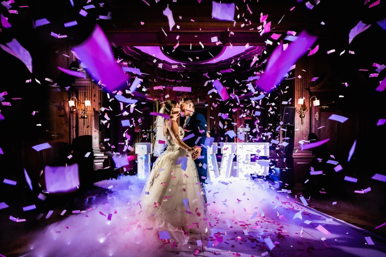 confetti shot at Thornton manor