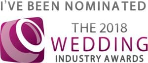 Nominated for Wedding Industry Awards 2018