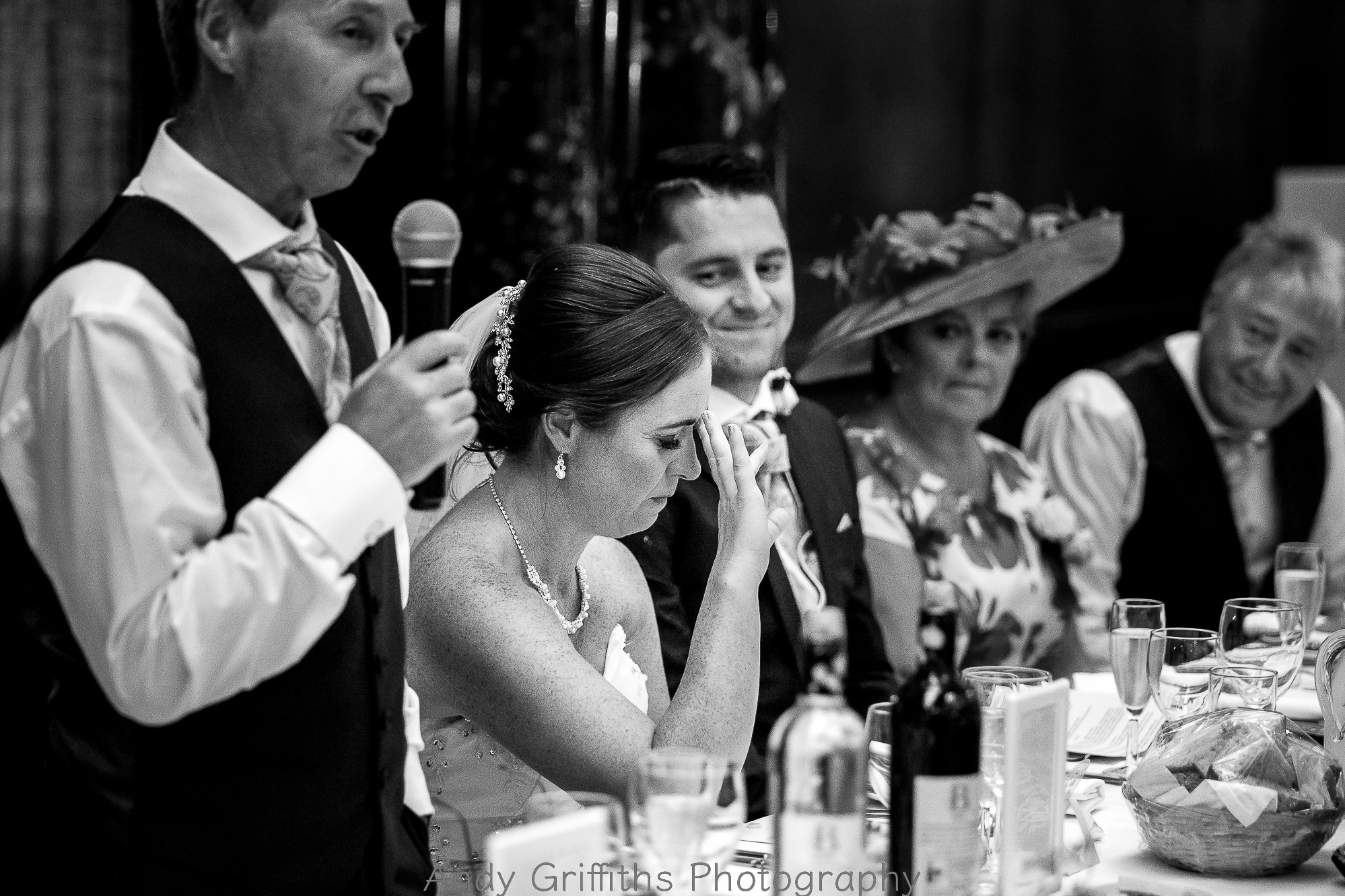 Bride emotional at fathers speech