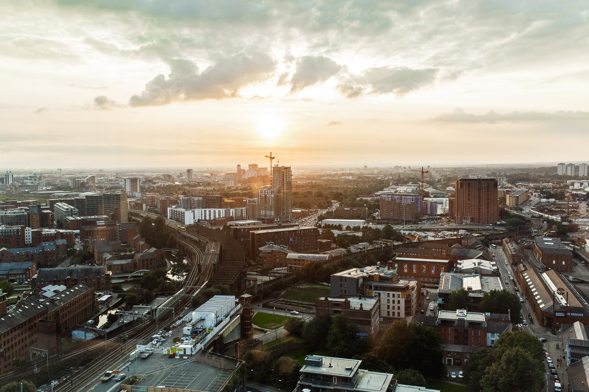 Manchester with sunset from cloud 23