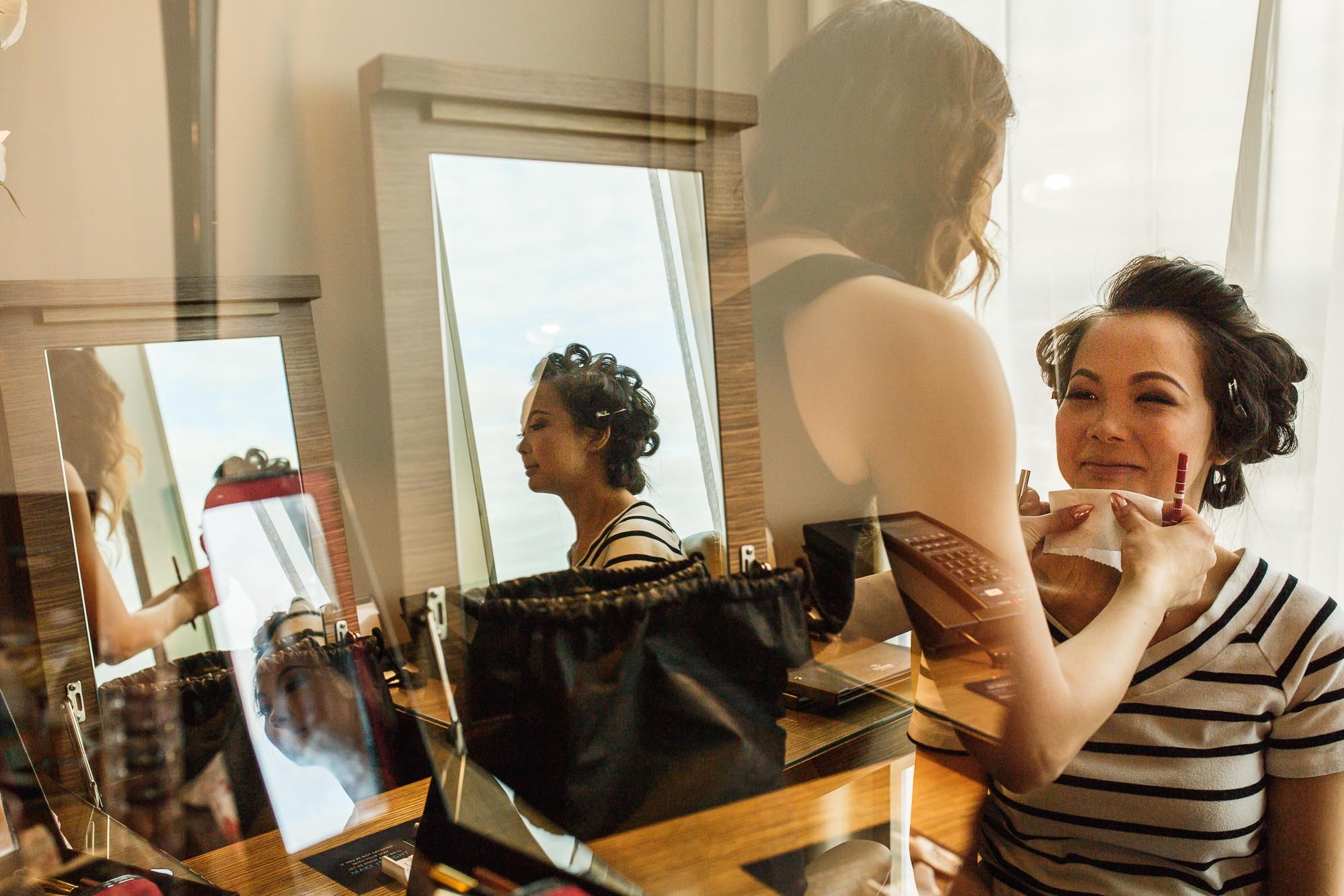 Reflections of bridal preparation