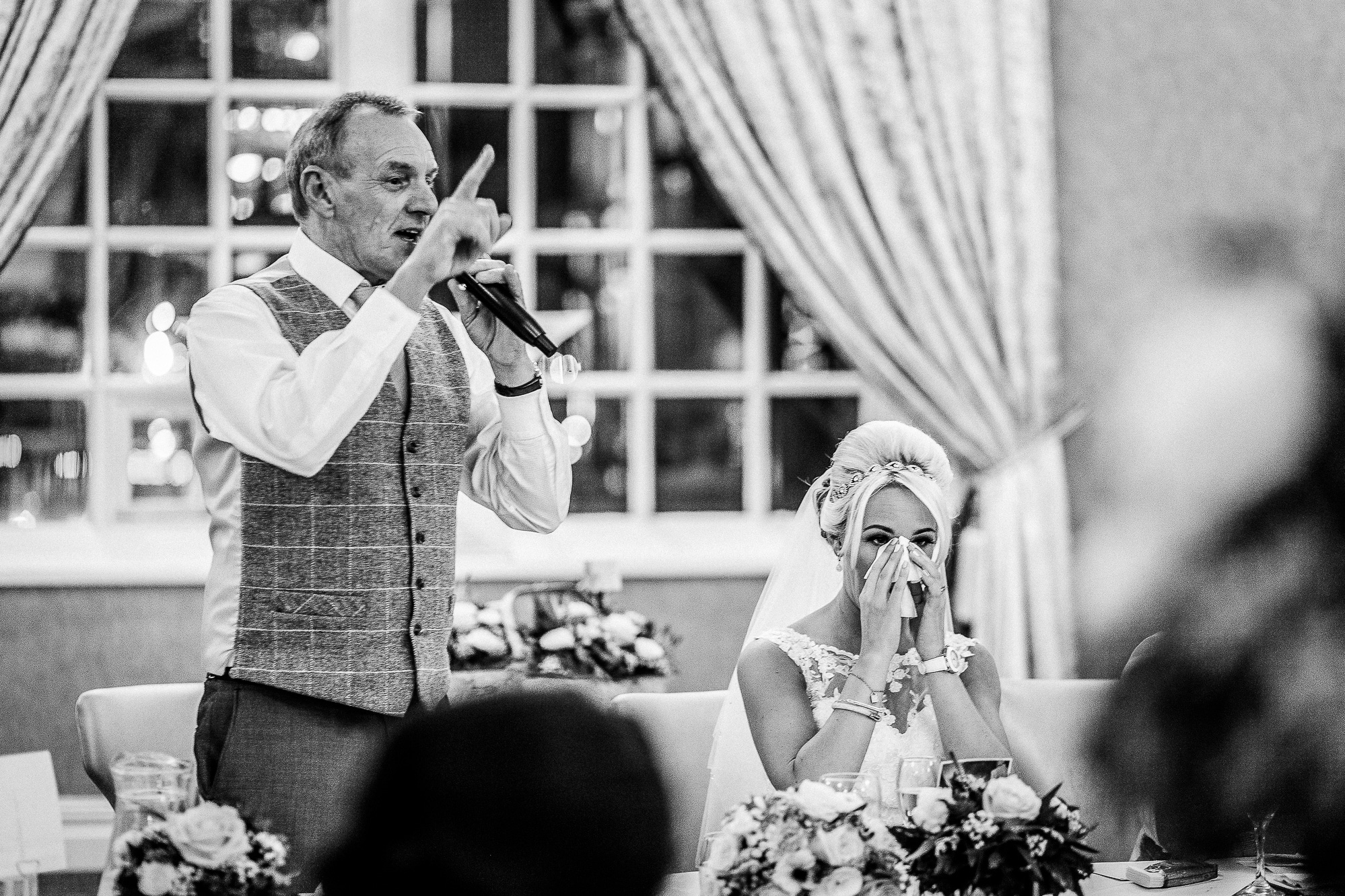 Father of bride speech, bride crying