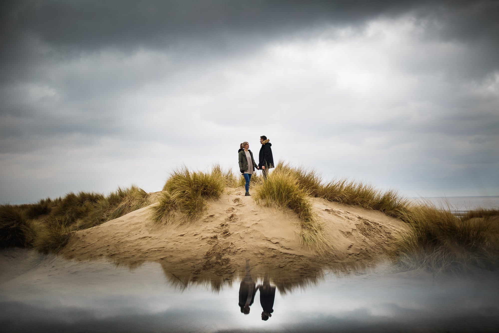 sanddunes reflection