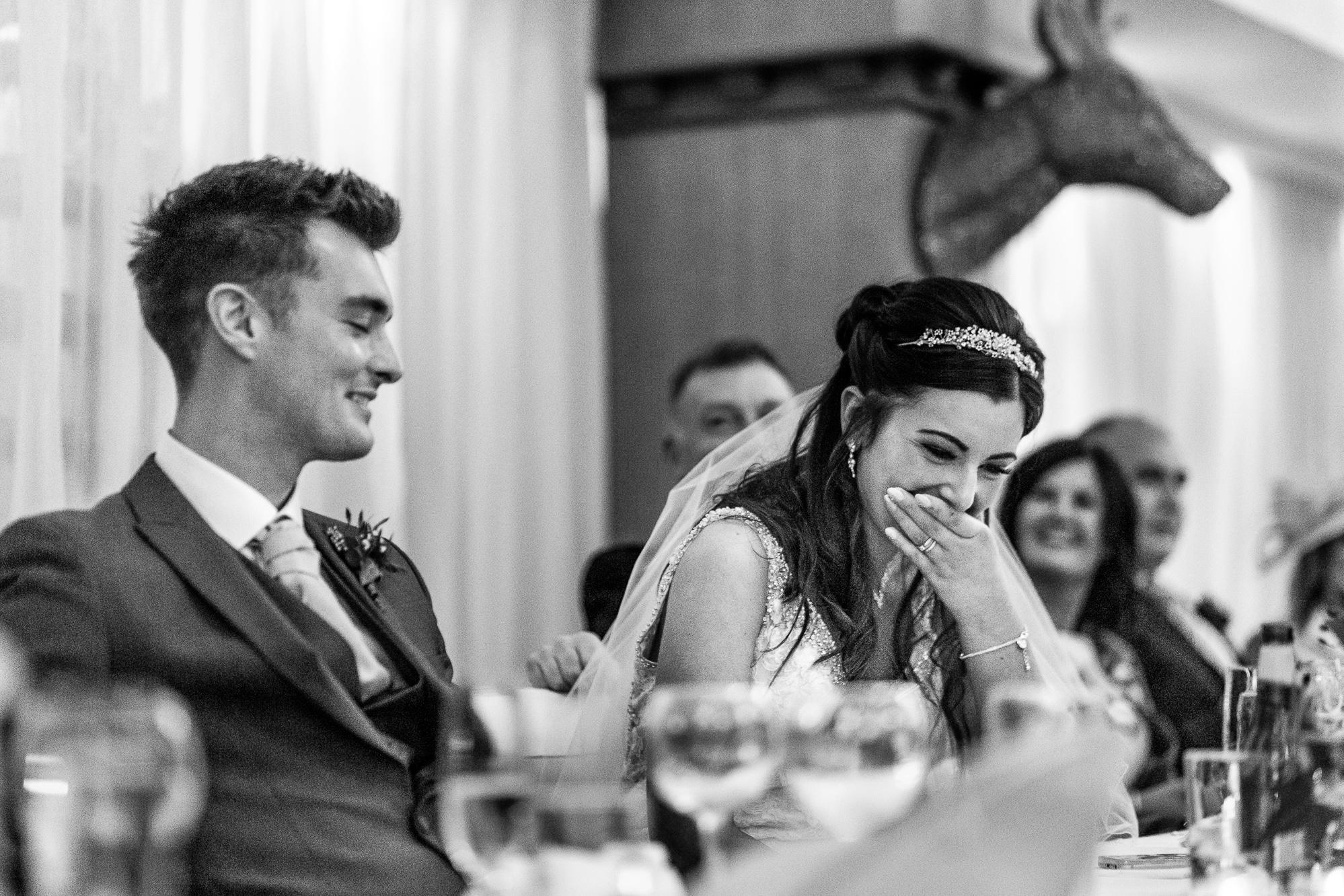 Bride upset during speeches