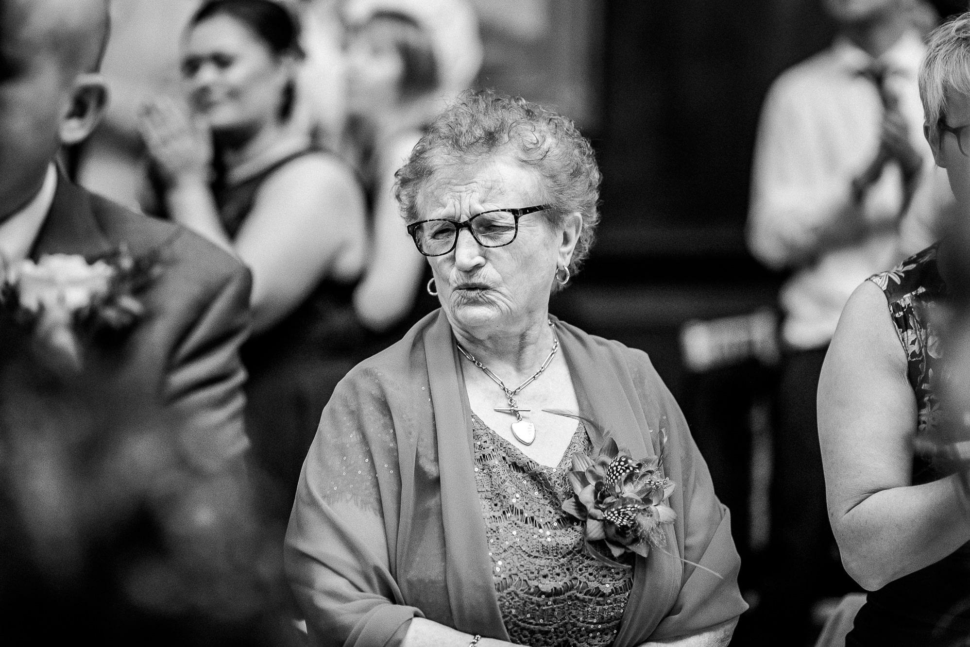 Nan pulling a face