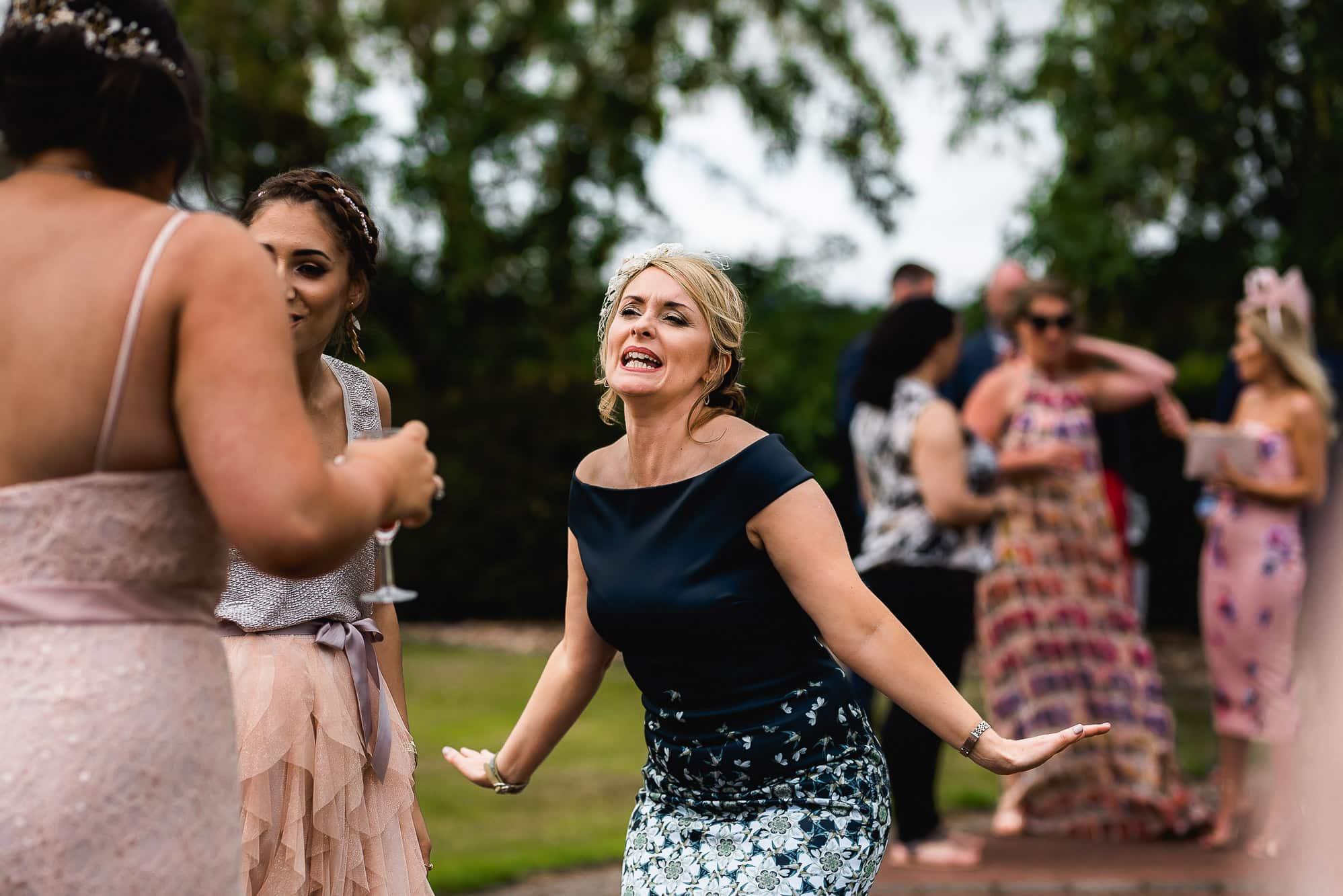Female guest dancing