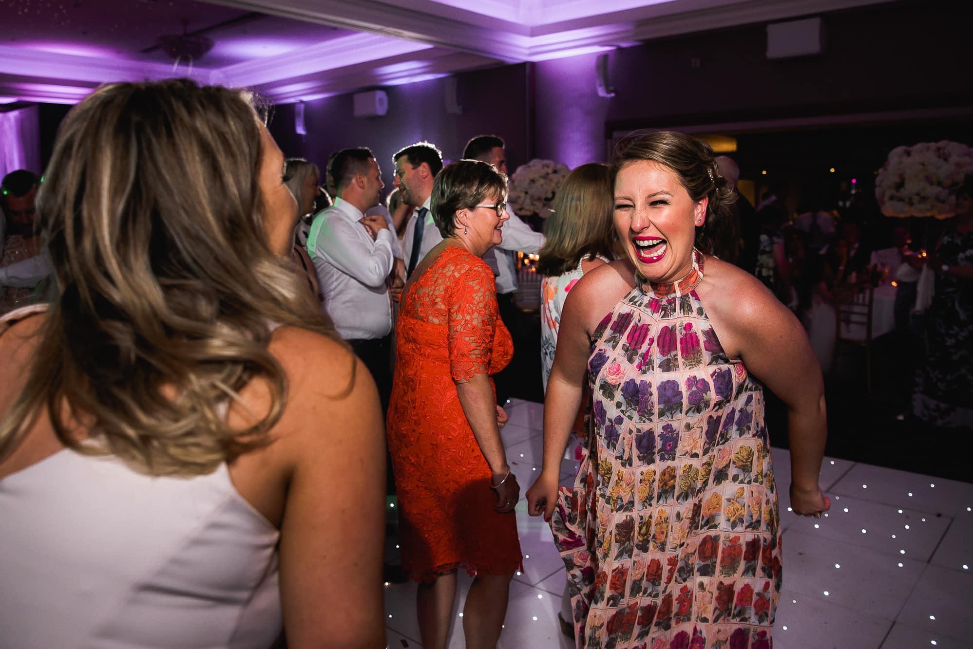 Women having fun on the dance floor