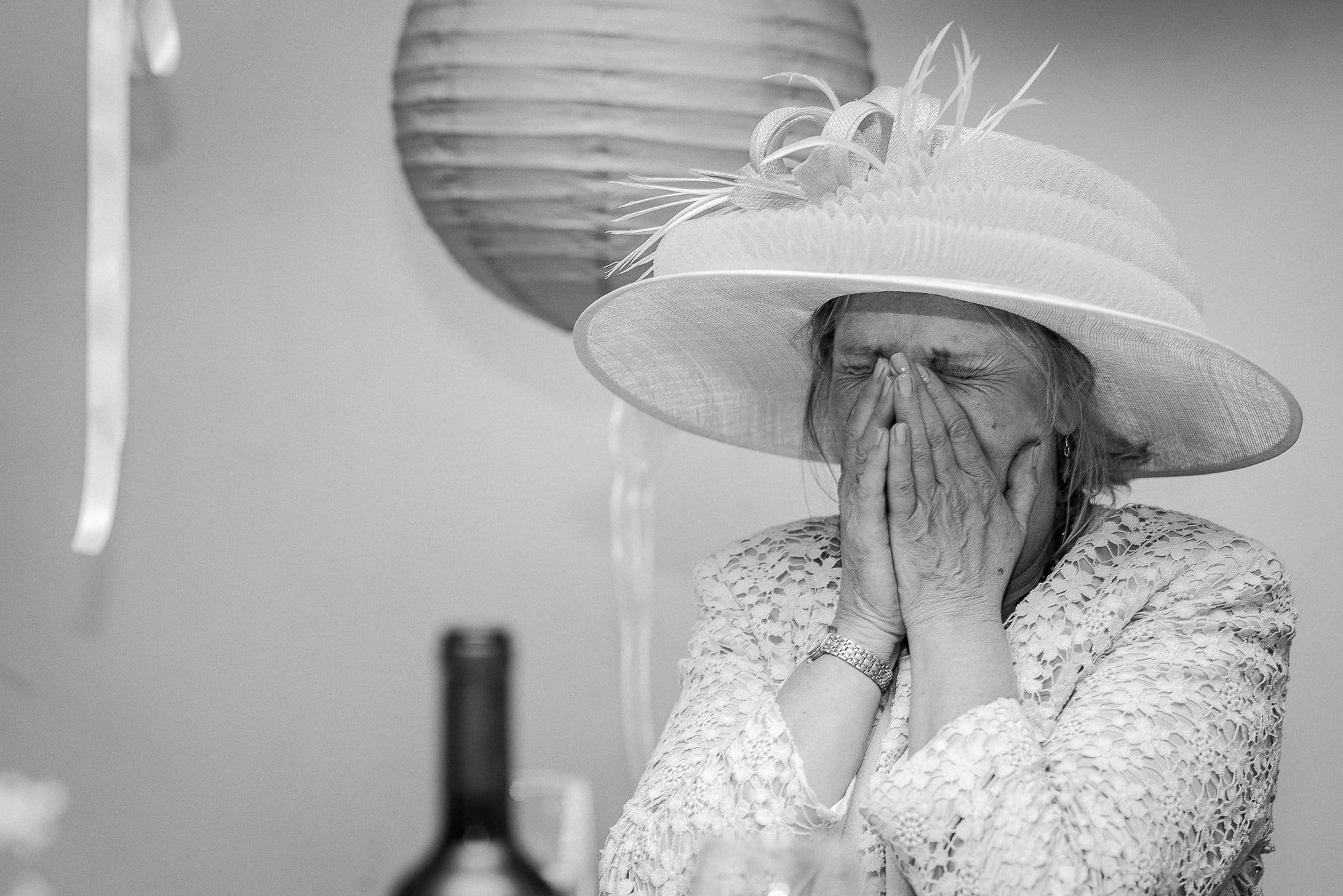 mother of groom crying