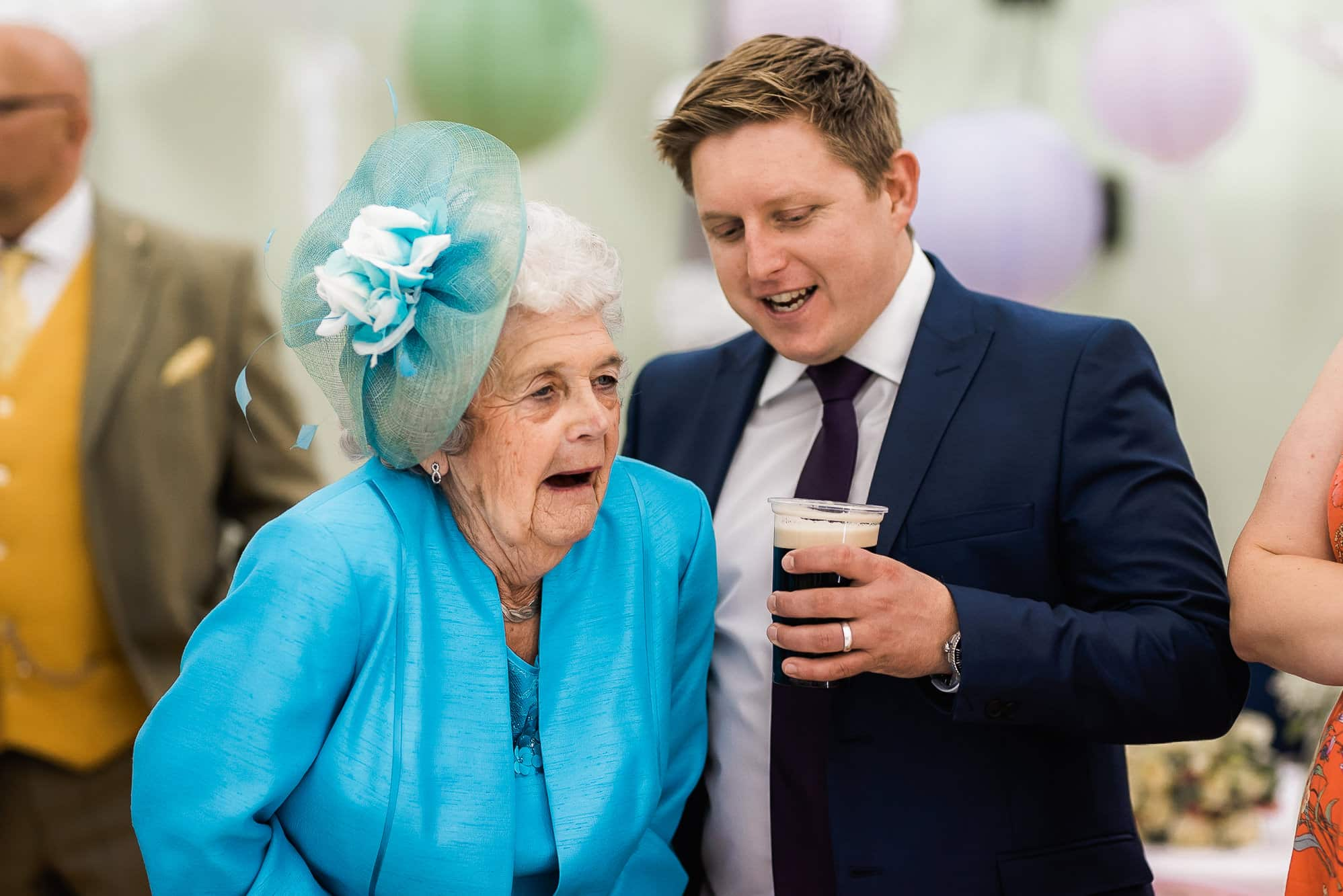 Granny laughing during speeches
