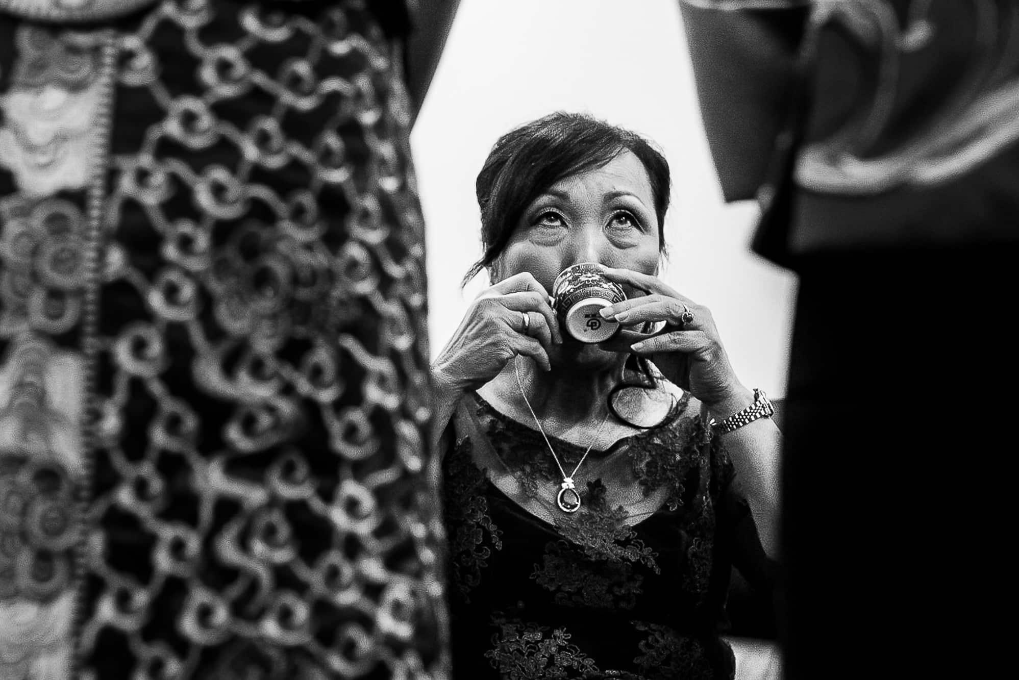Mum drinking tea