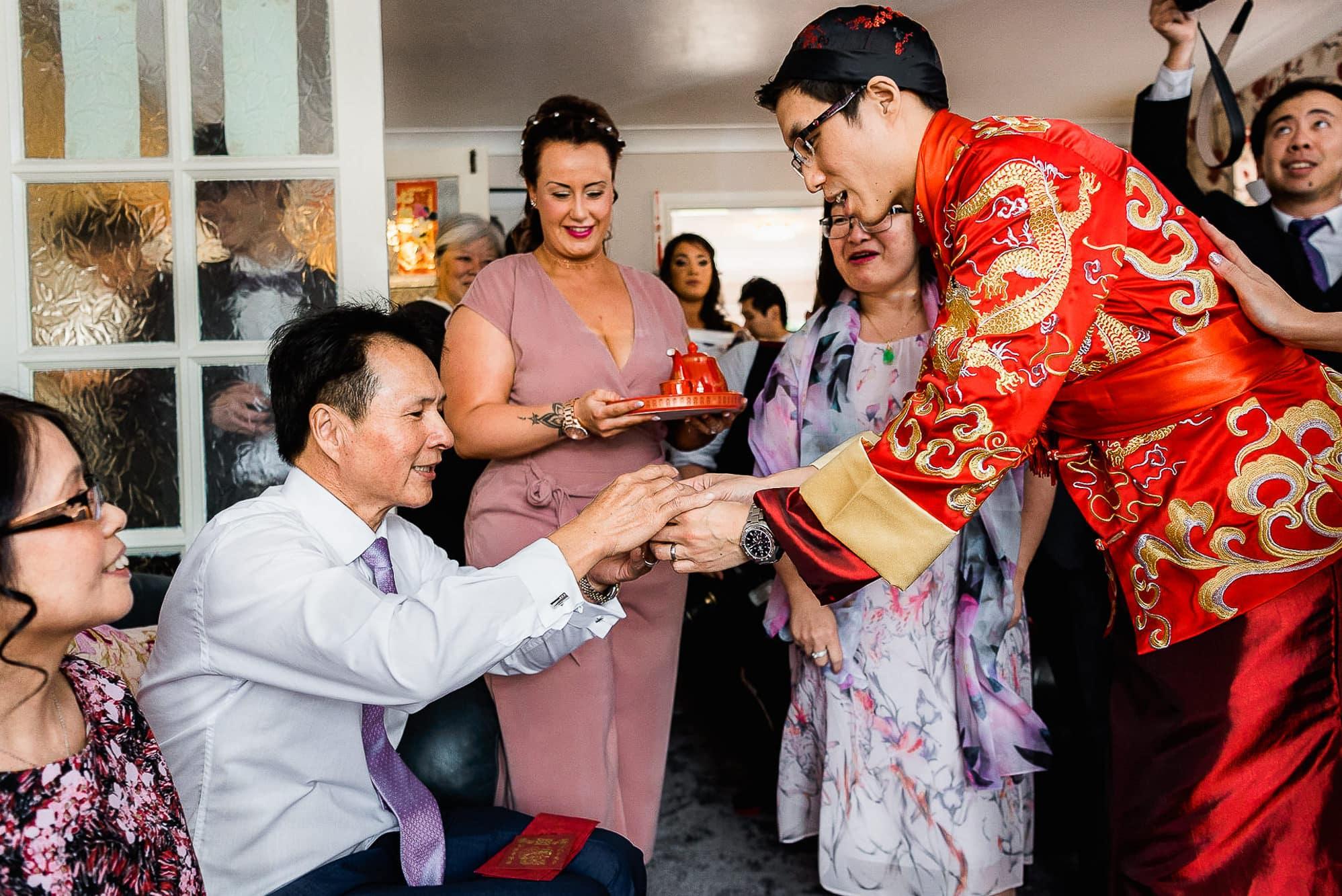 Traditional tea giving