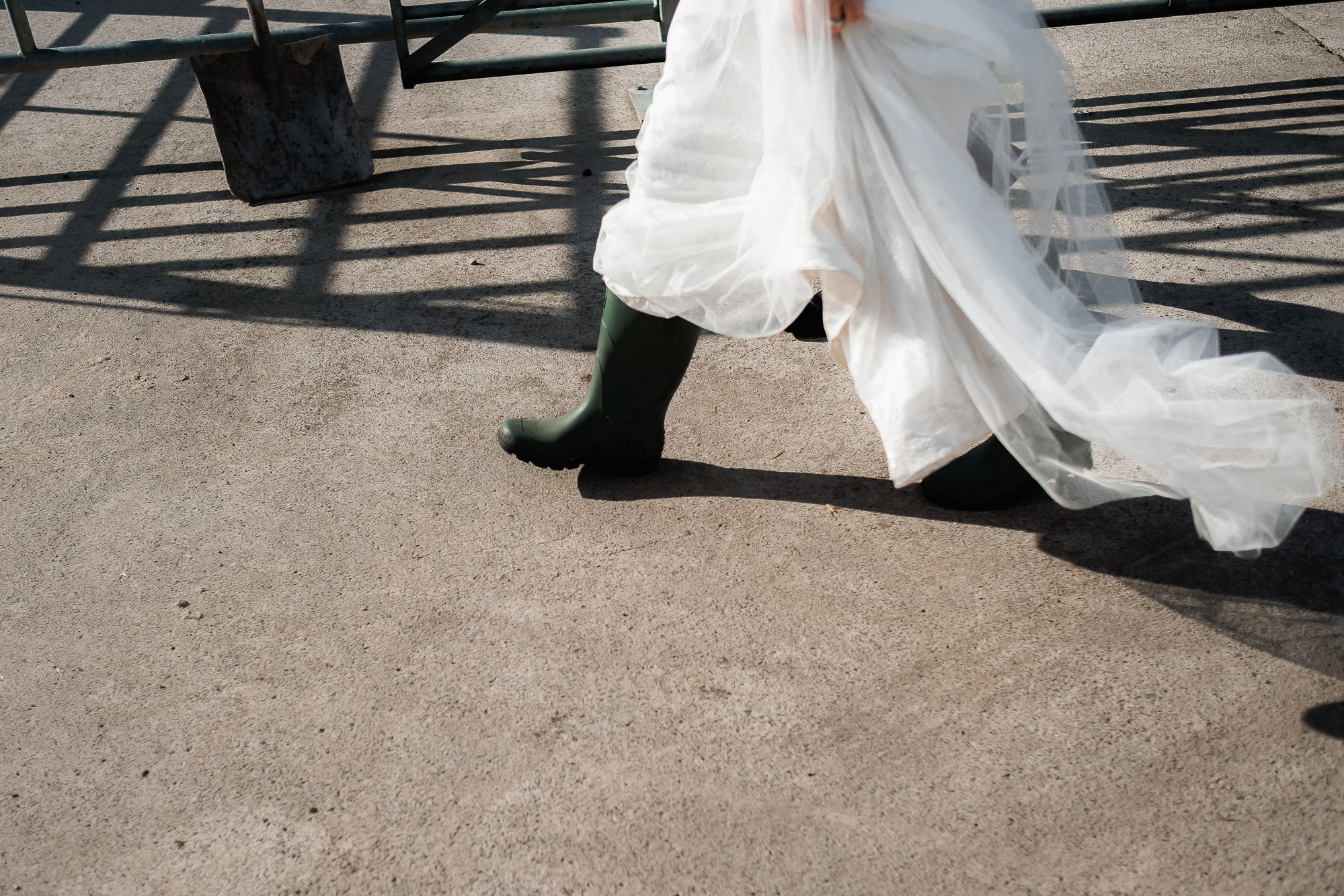 Brides wellies