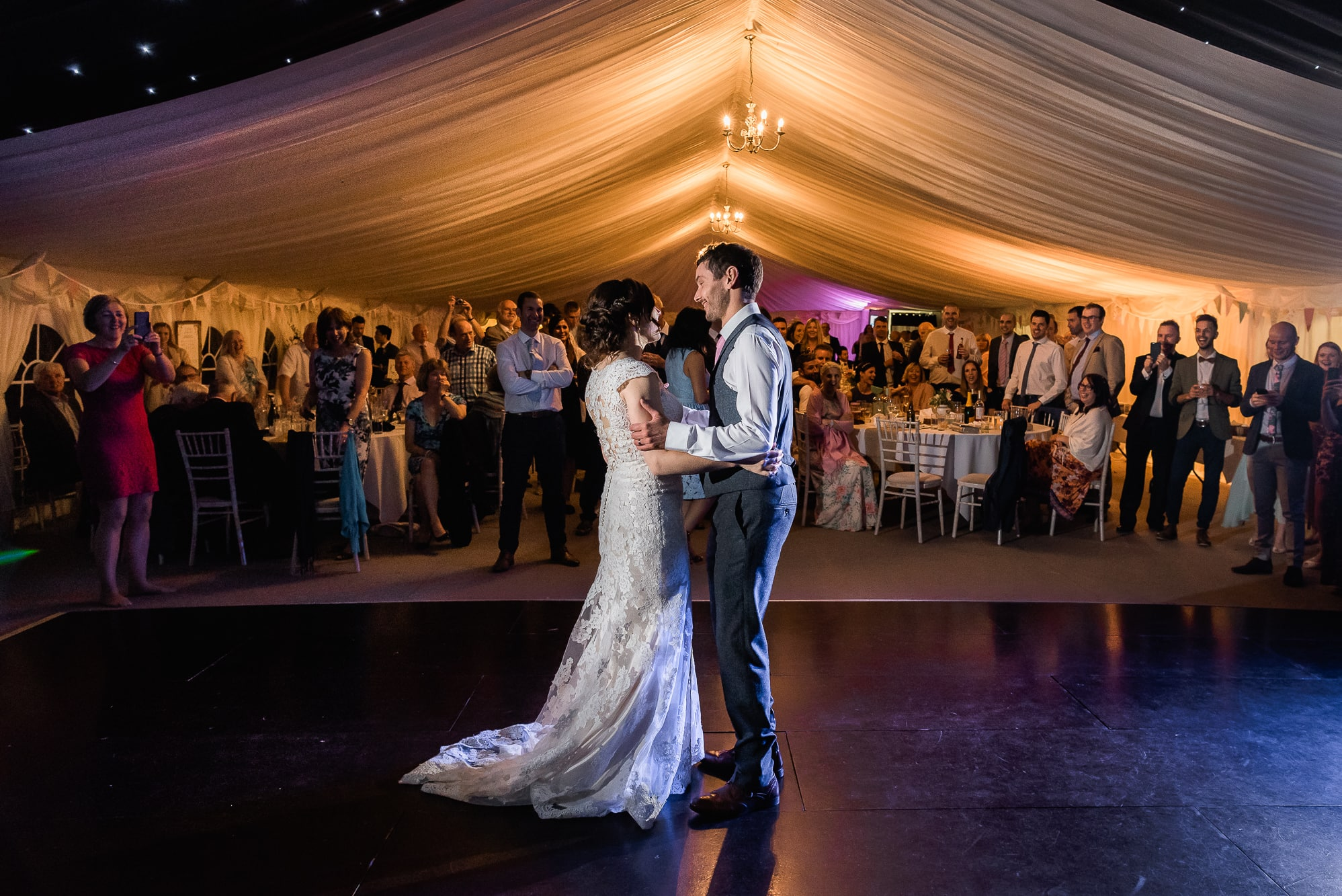 First dance in marquee