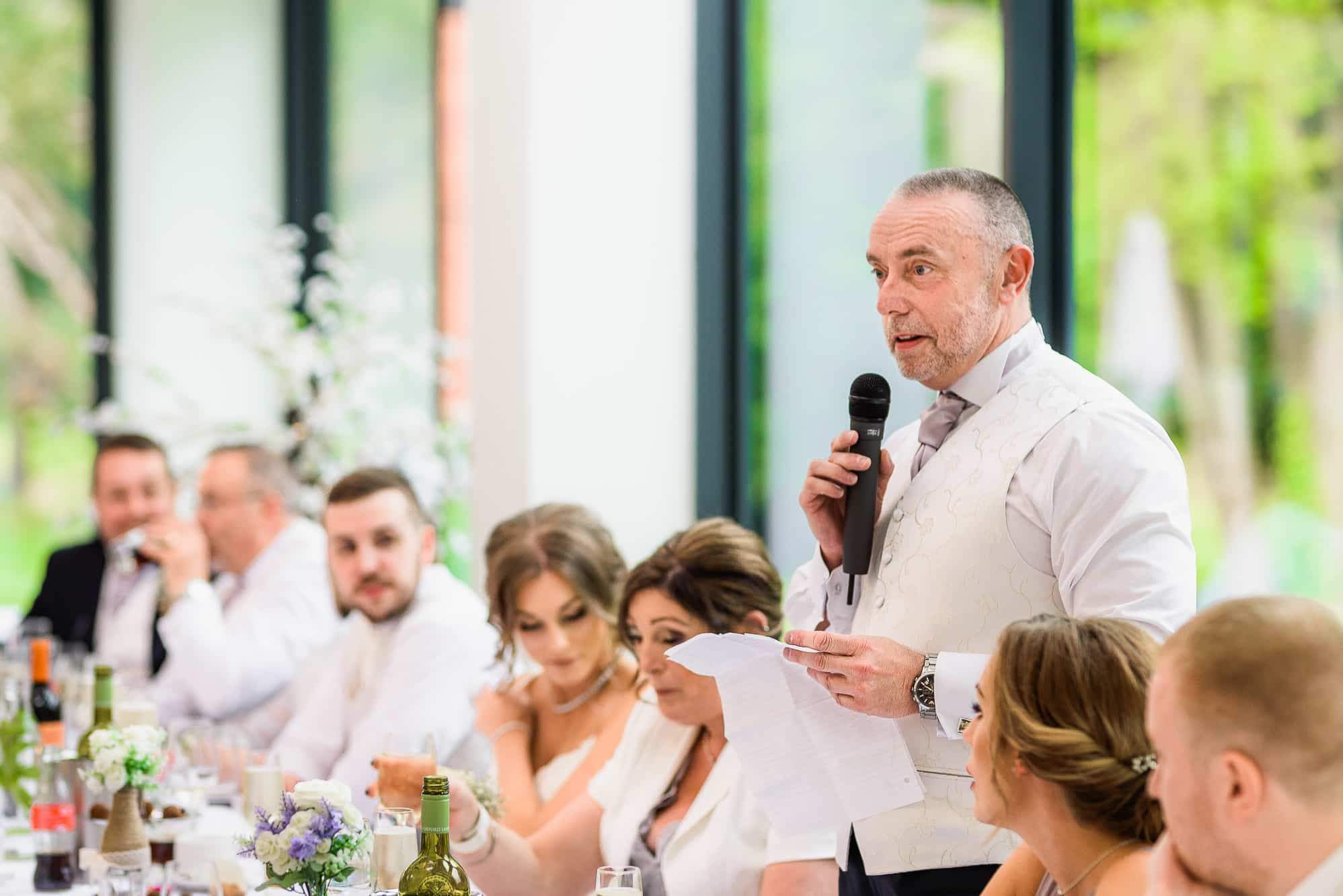 Father of the bride speech at Tyn Dwr Hall