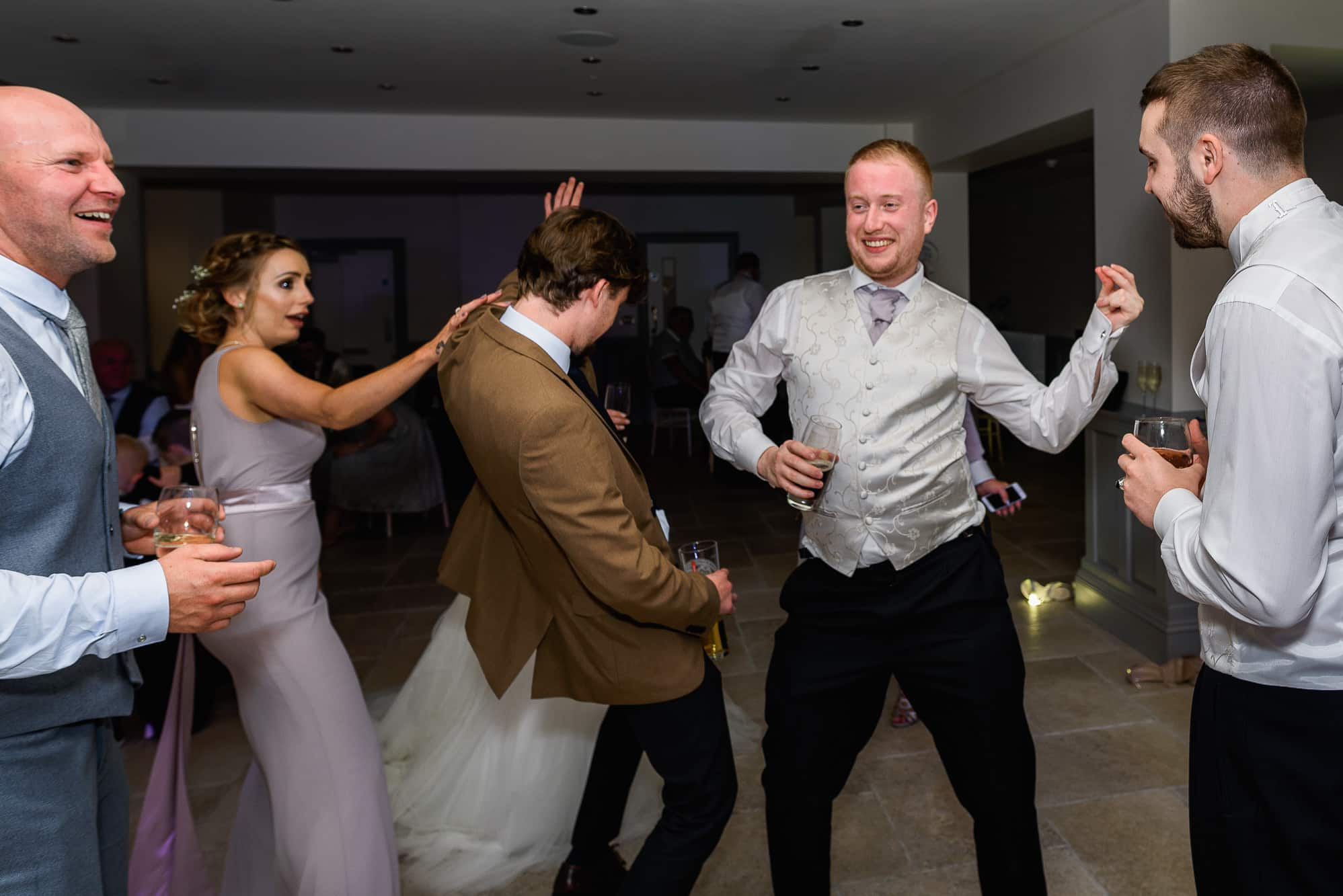 Best man dancing at Tyn Dwr Hall