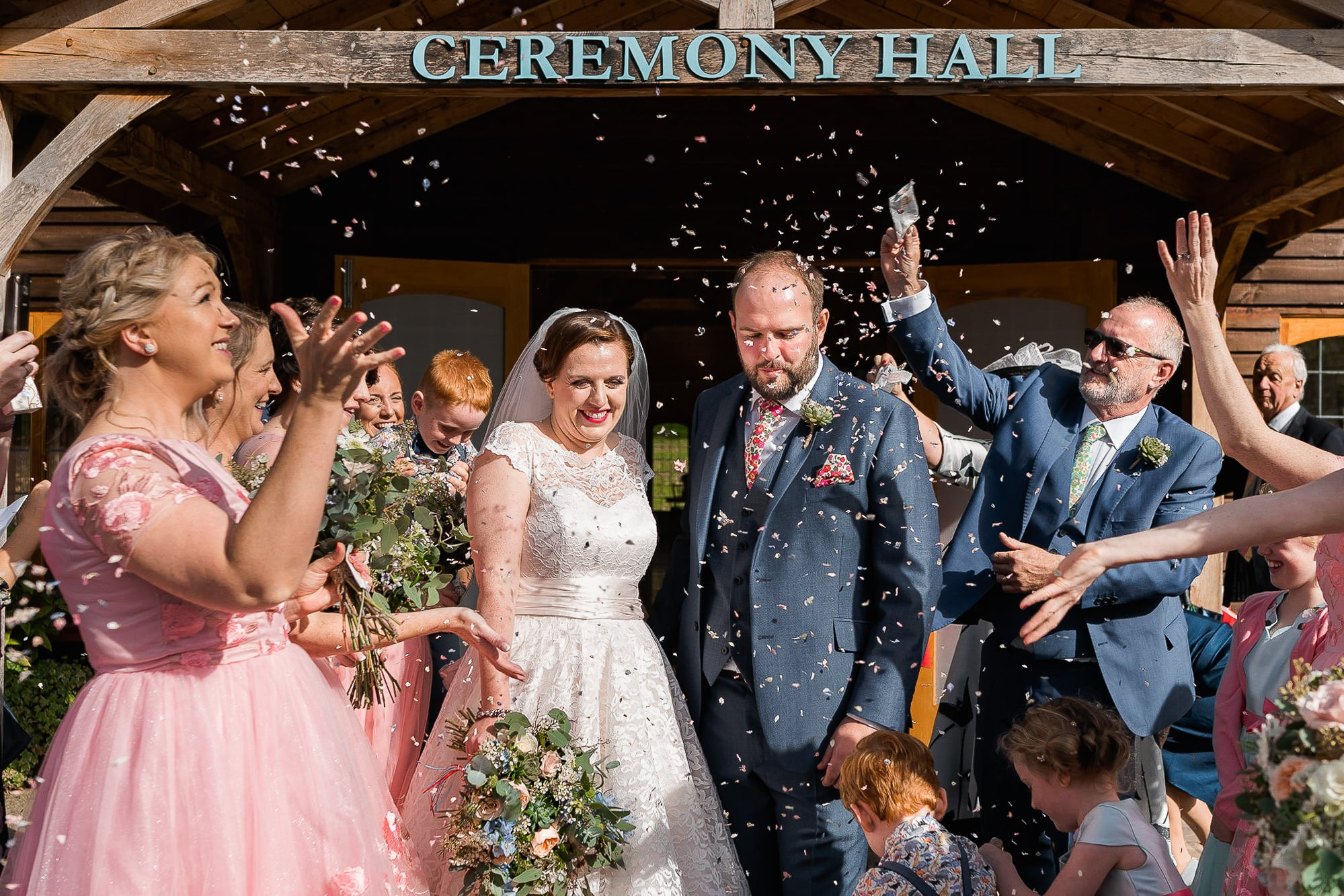 Confetti shot at Colshaw Hall