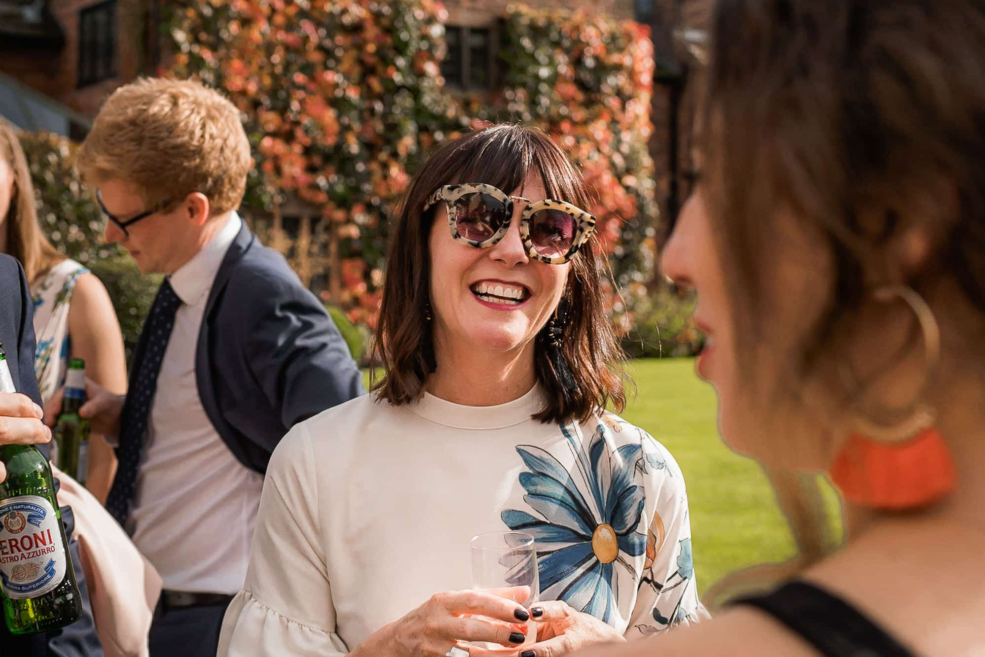 Female guest laughing at Colshaw Hall