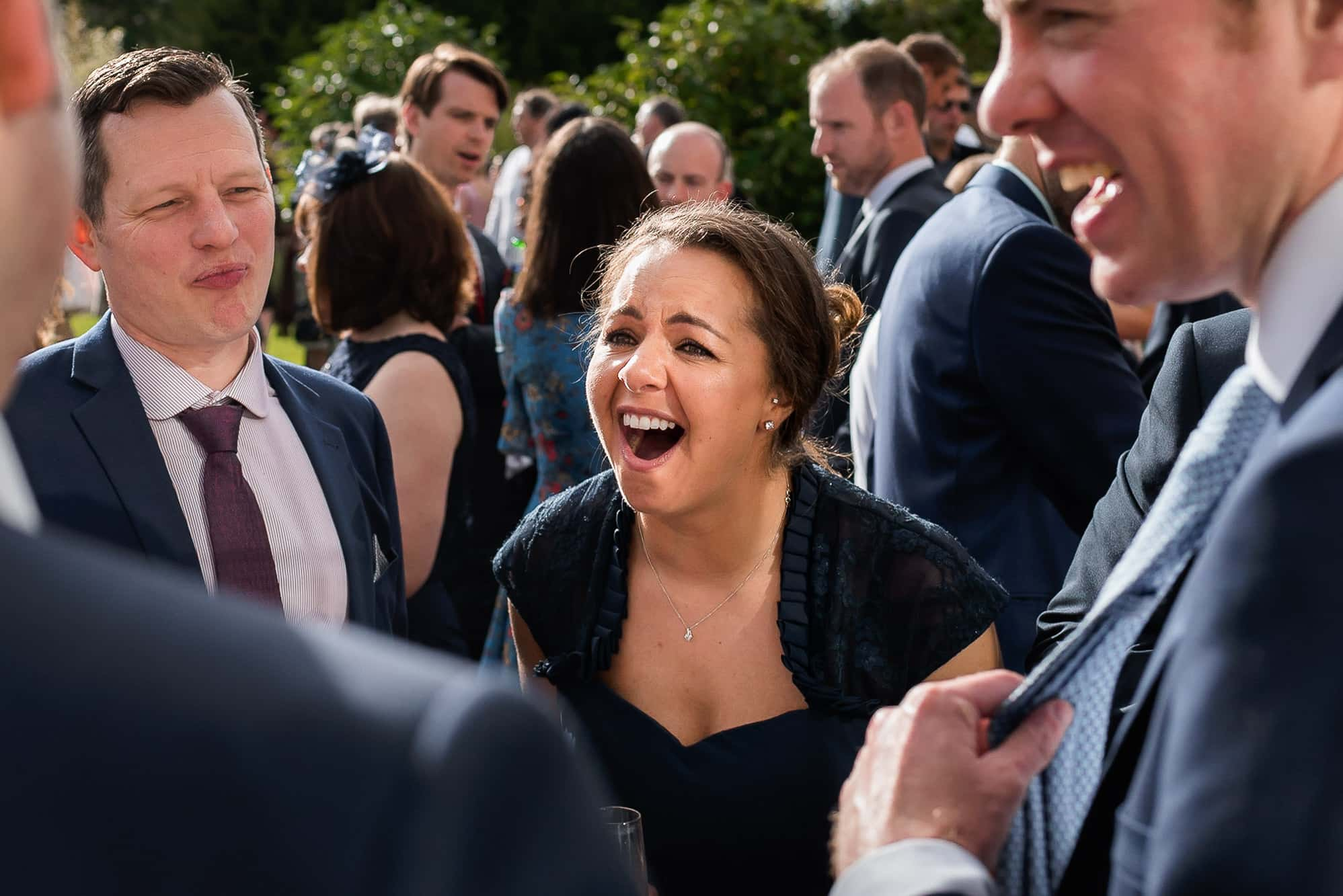 Guests laughing at Colshaw Hall