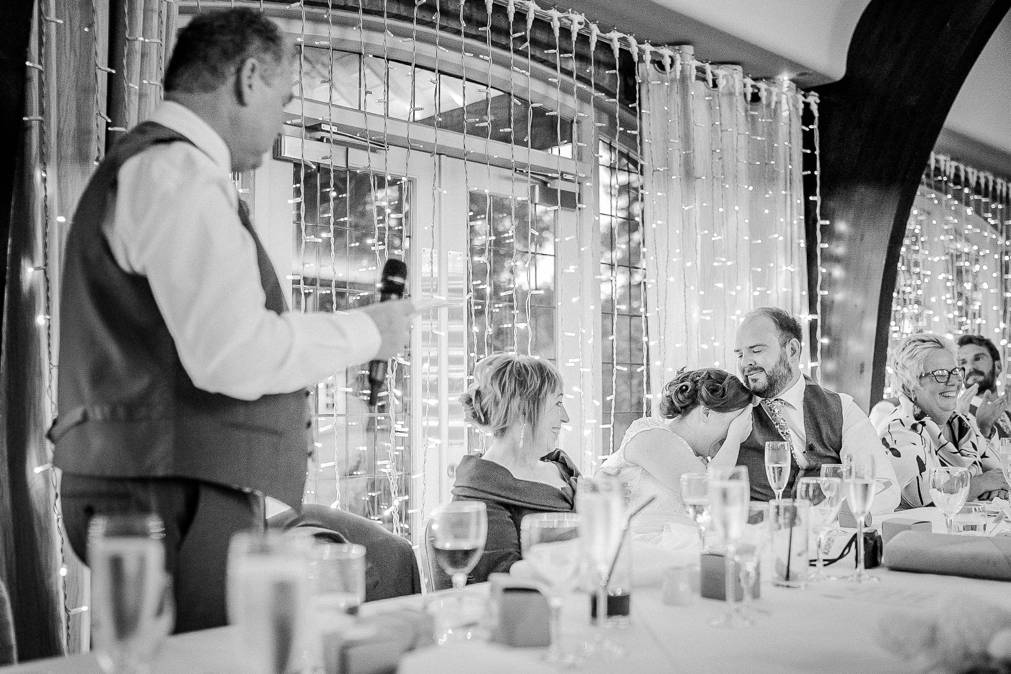 Father of bride speech at Colshaw Hall