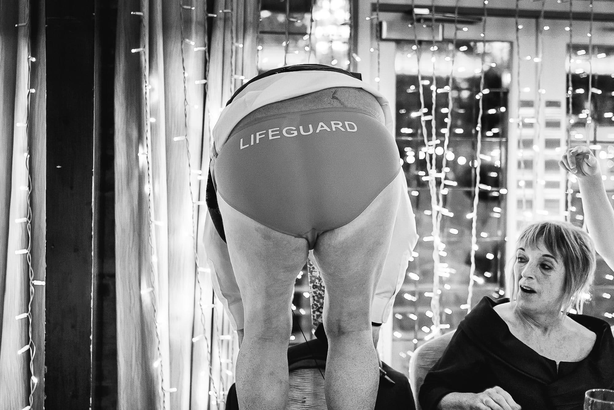 Lifeguard pants at Colshaw Hall