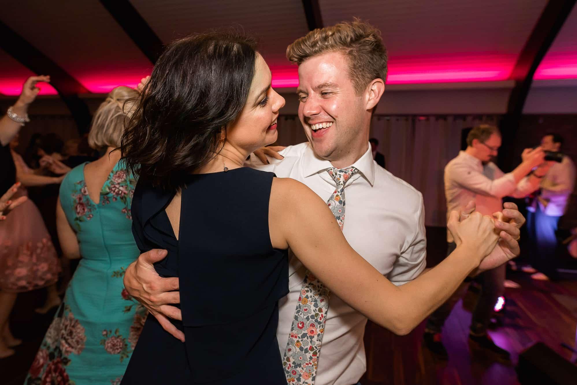 Dancing couple at Colshaw Hall