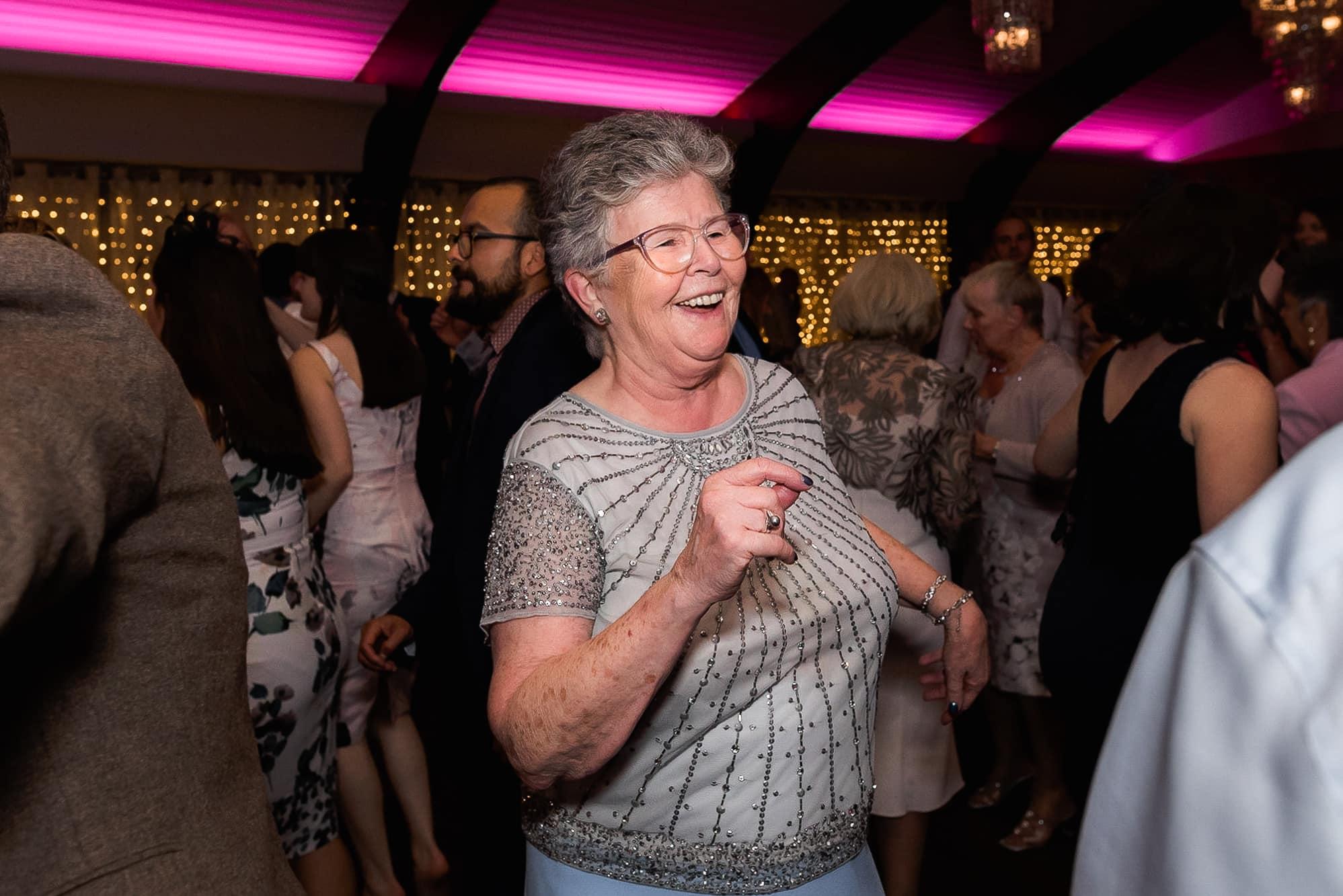 Gran dancing at Colshaw Hall