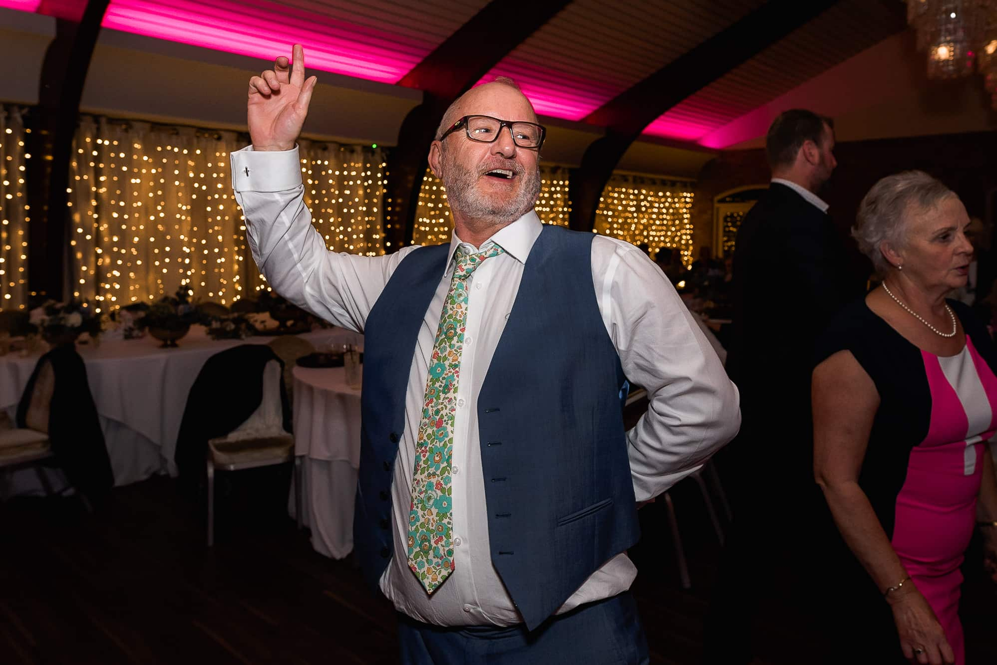 Father of bride dancing at Colshaw hall