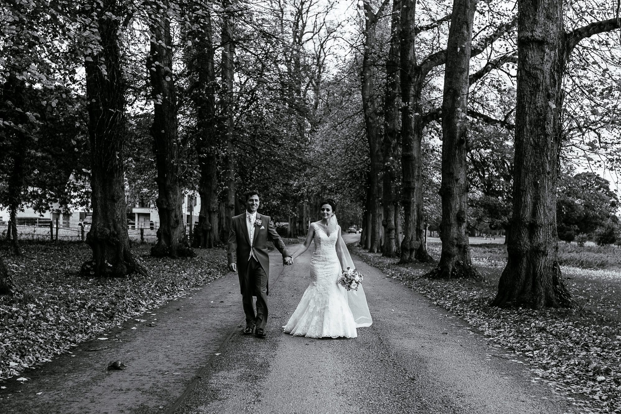 Natural photos of the bride and groom at Mottram Hall