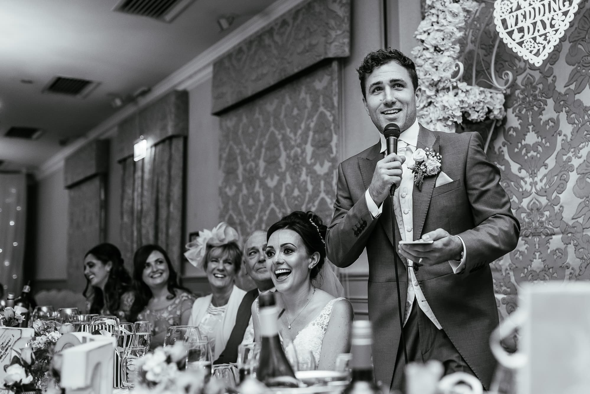 Grooms speech at Mottram hall