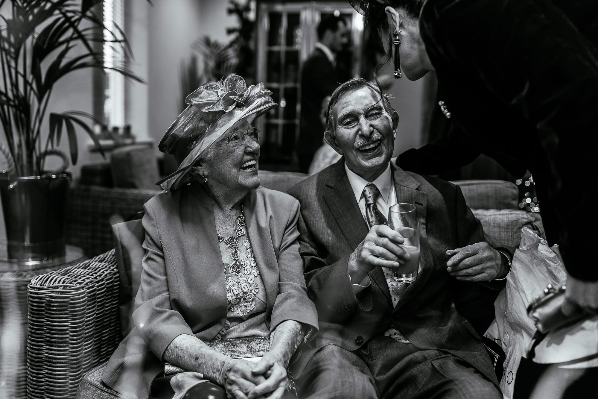 Brides gran and grandad at Mitton Hall