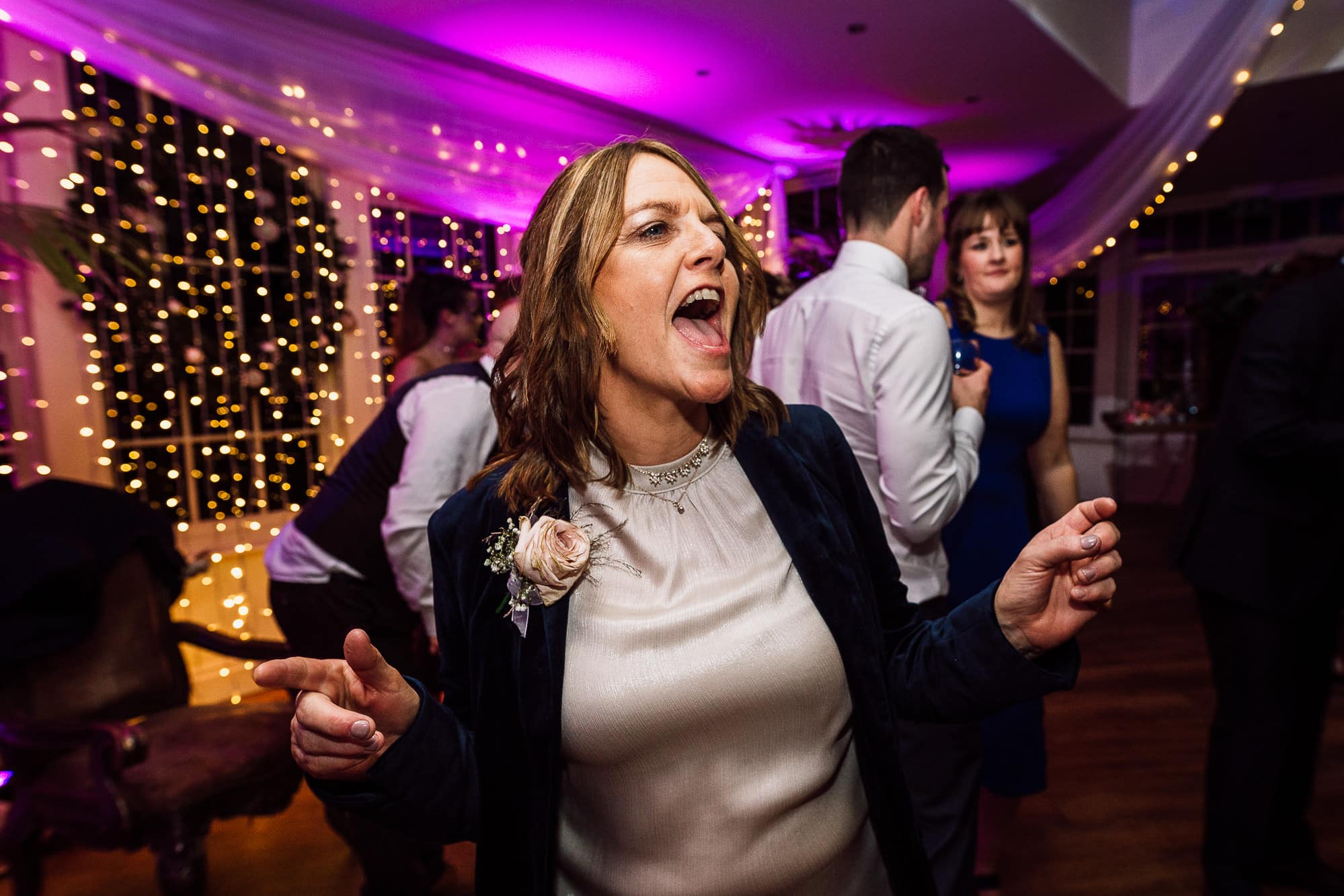 Brides Aunty dancing at Mitton Hall