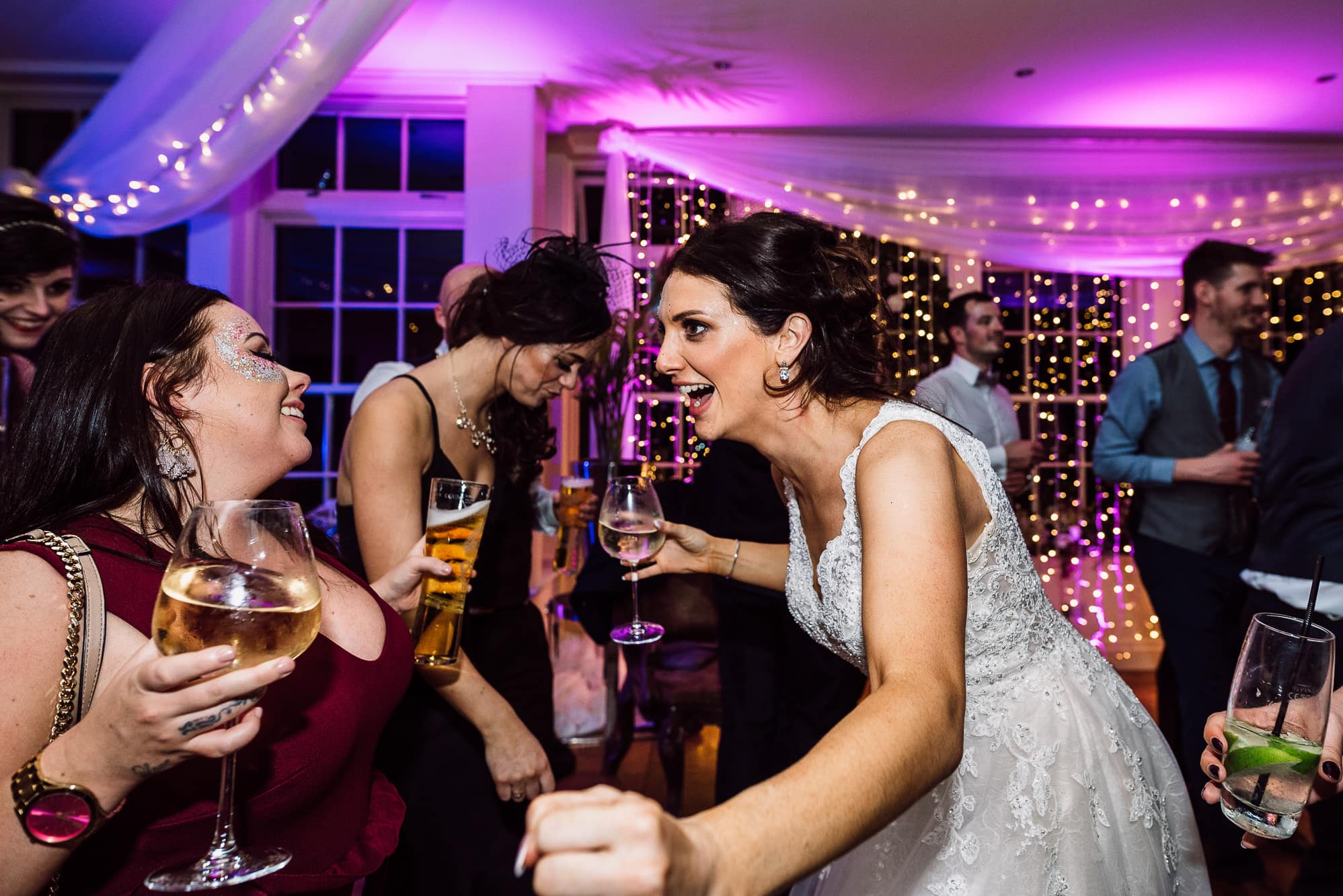 Bride dancing at Mitton Hall