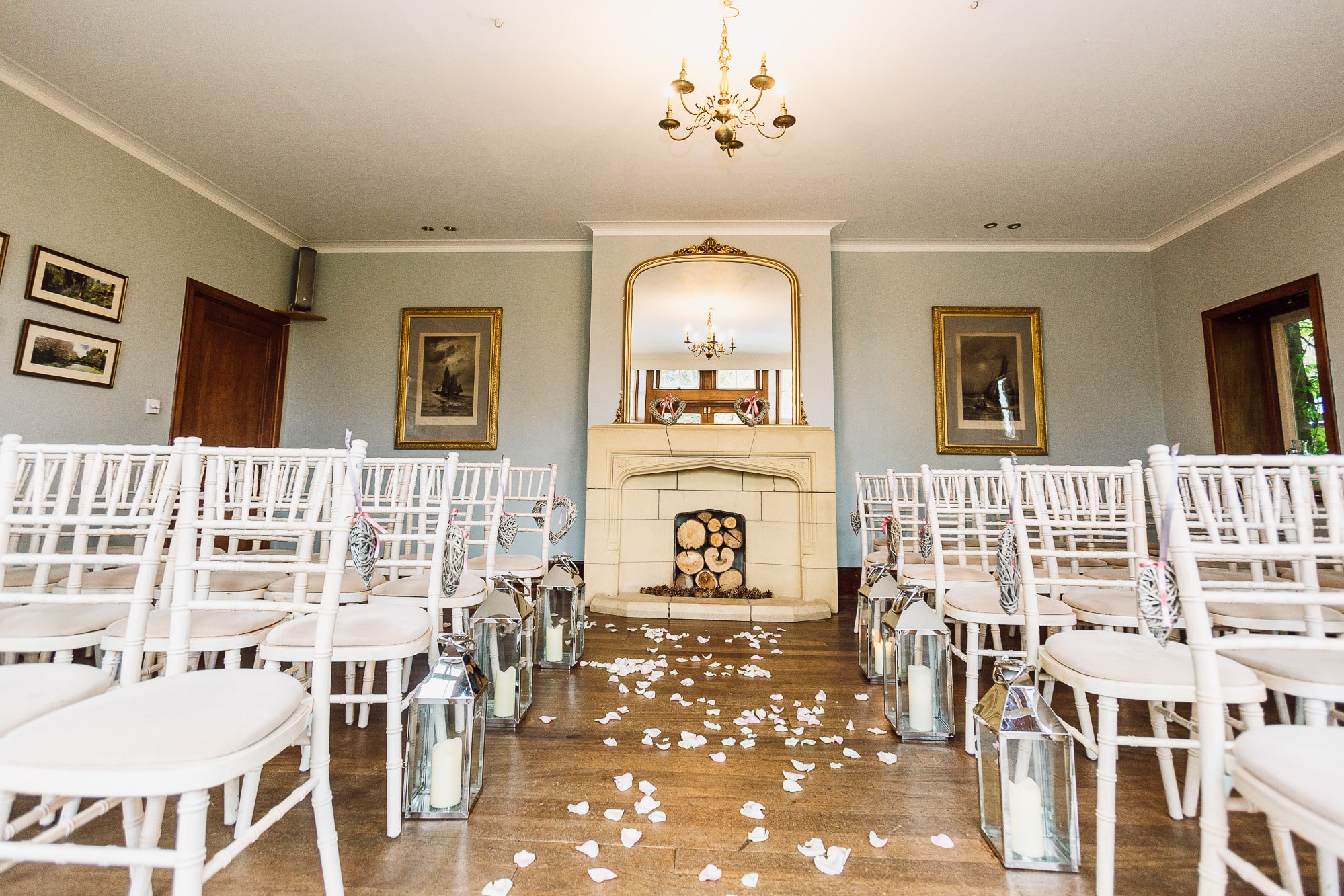 The ceremony room at Hilltop Country House