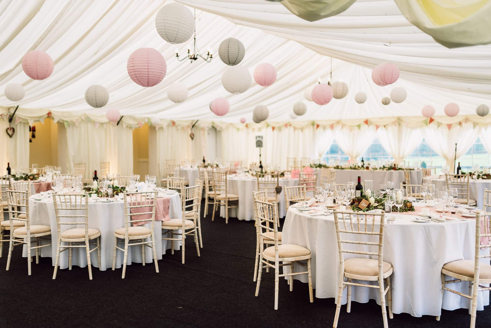 The marquee at Hilltop Country House