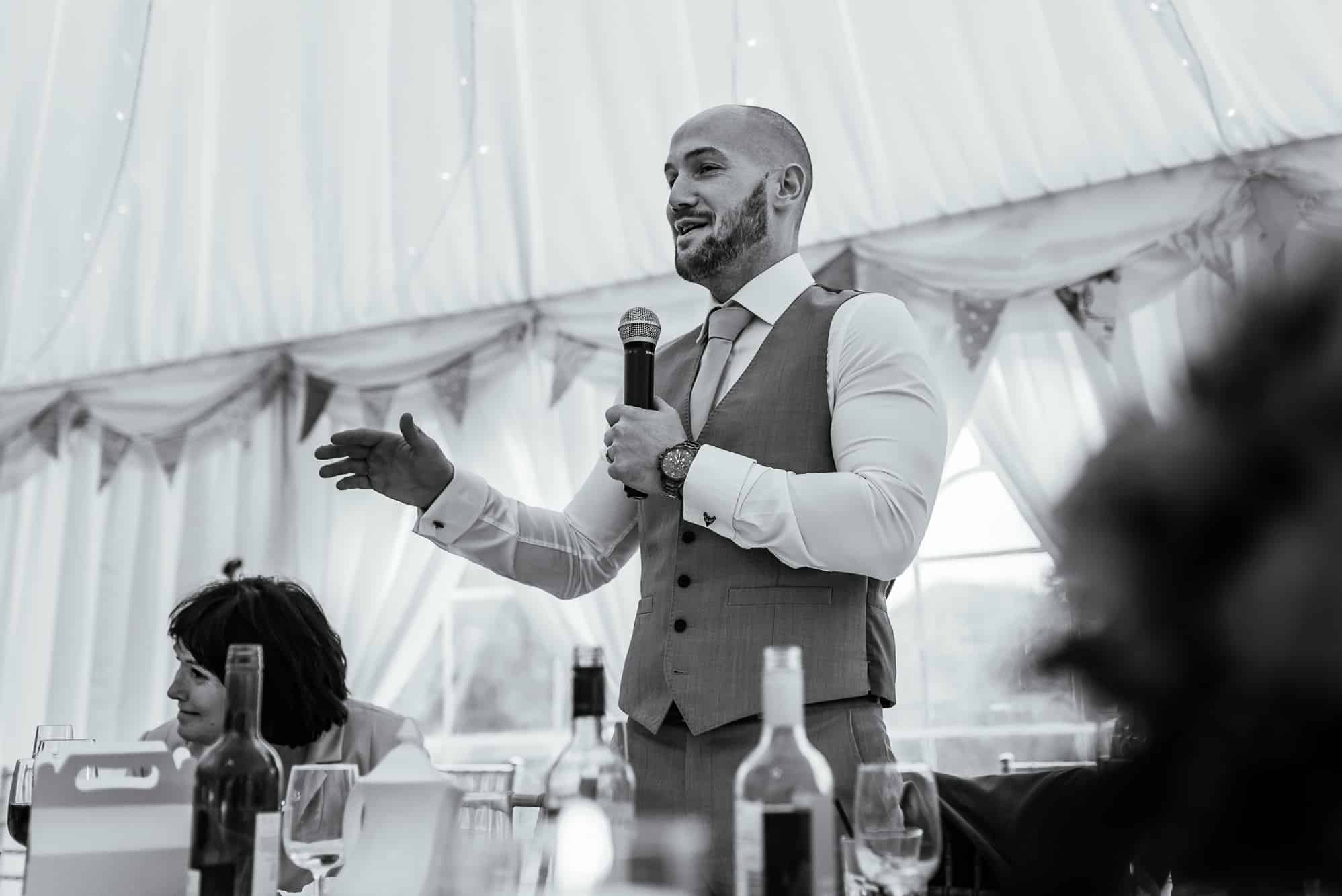 Grooms speech at Hilltop Country House