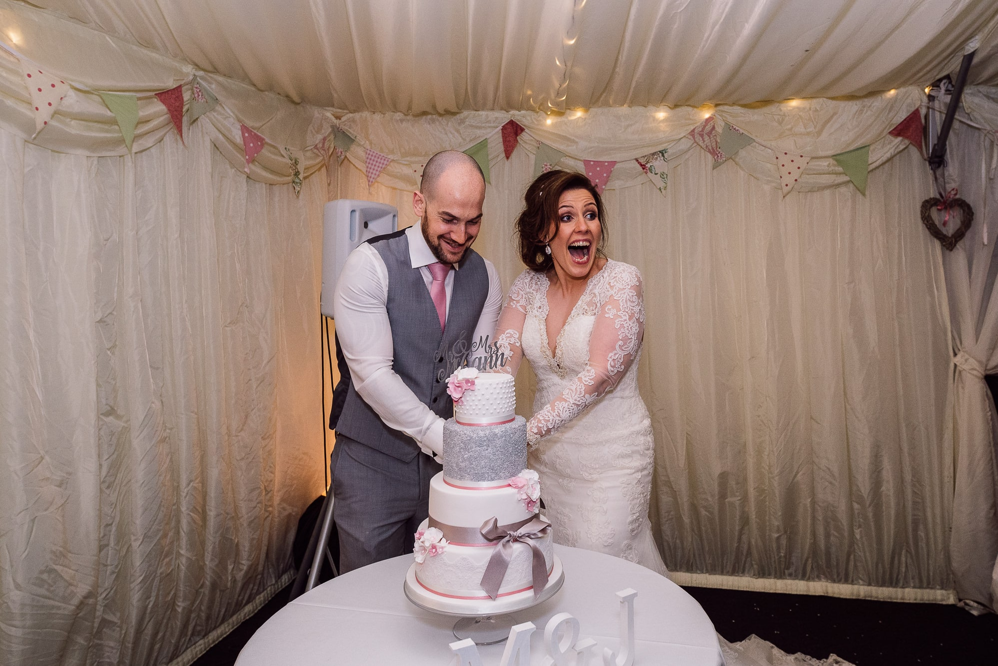 Cutting of the cake at Hilltop Country House