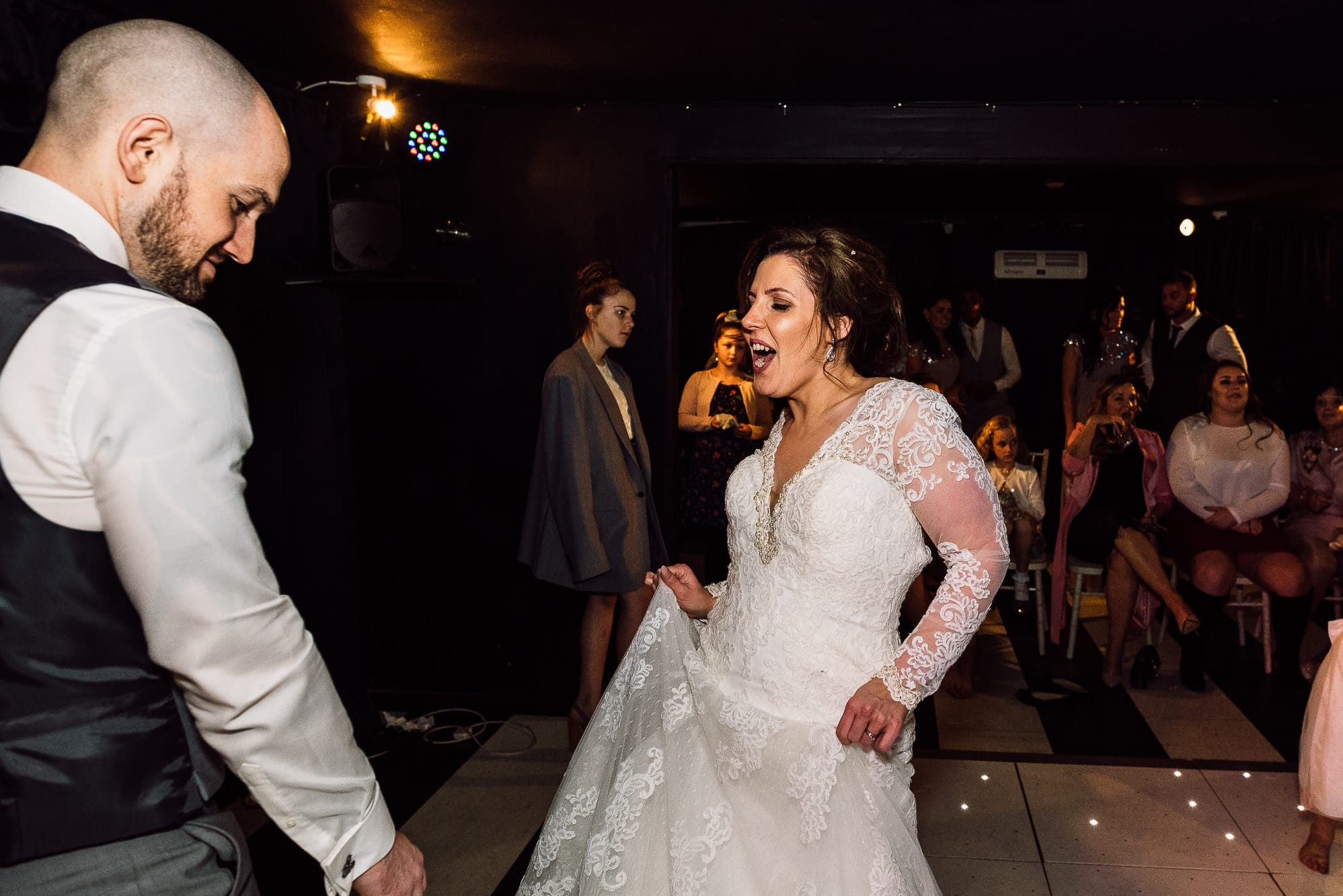 Bride dancing at Hilltop Country hOUSE