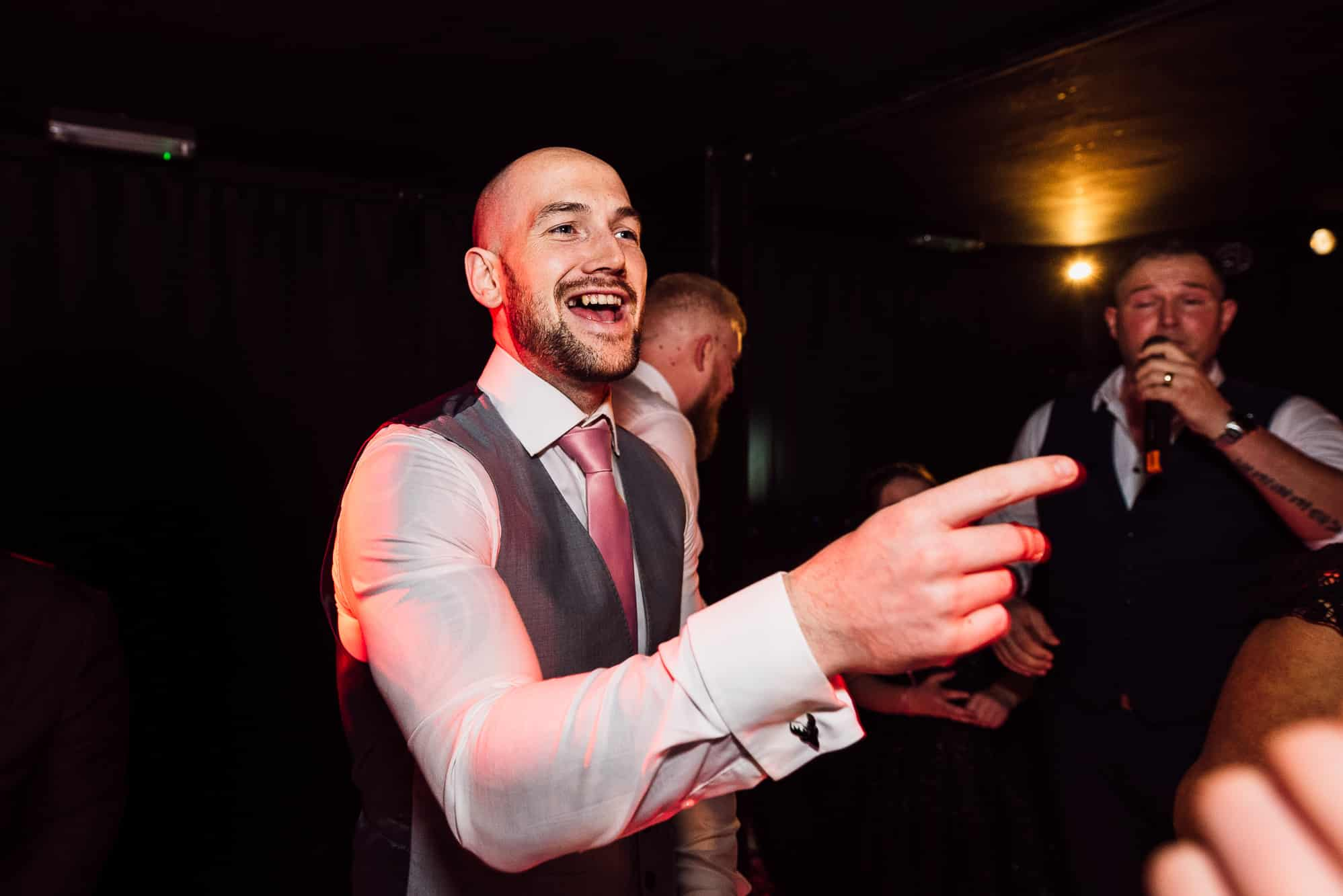 Groom dancing at Hilltop Country House
