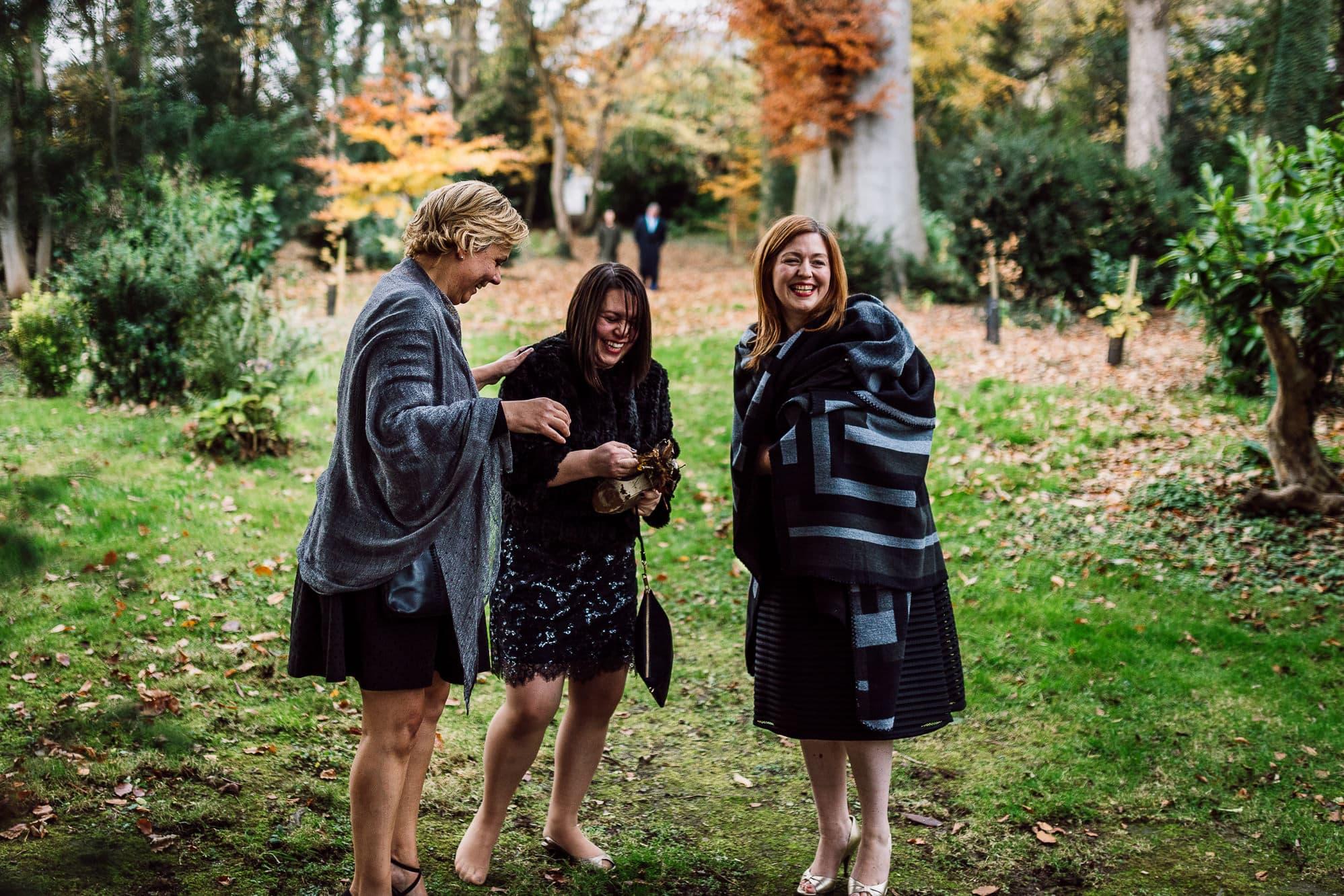 Three female guests at Trevor hall Church