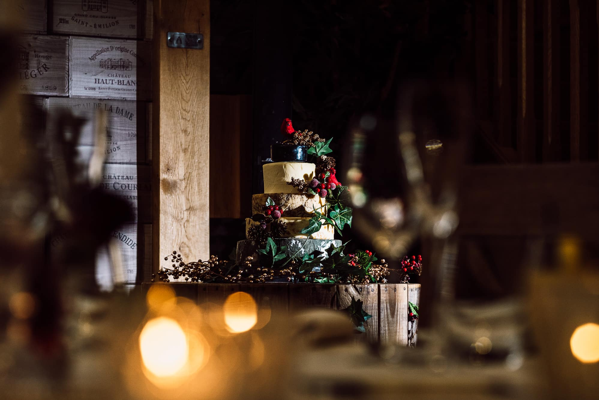 Wedding cake at Tower Hill Barns