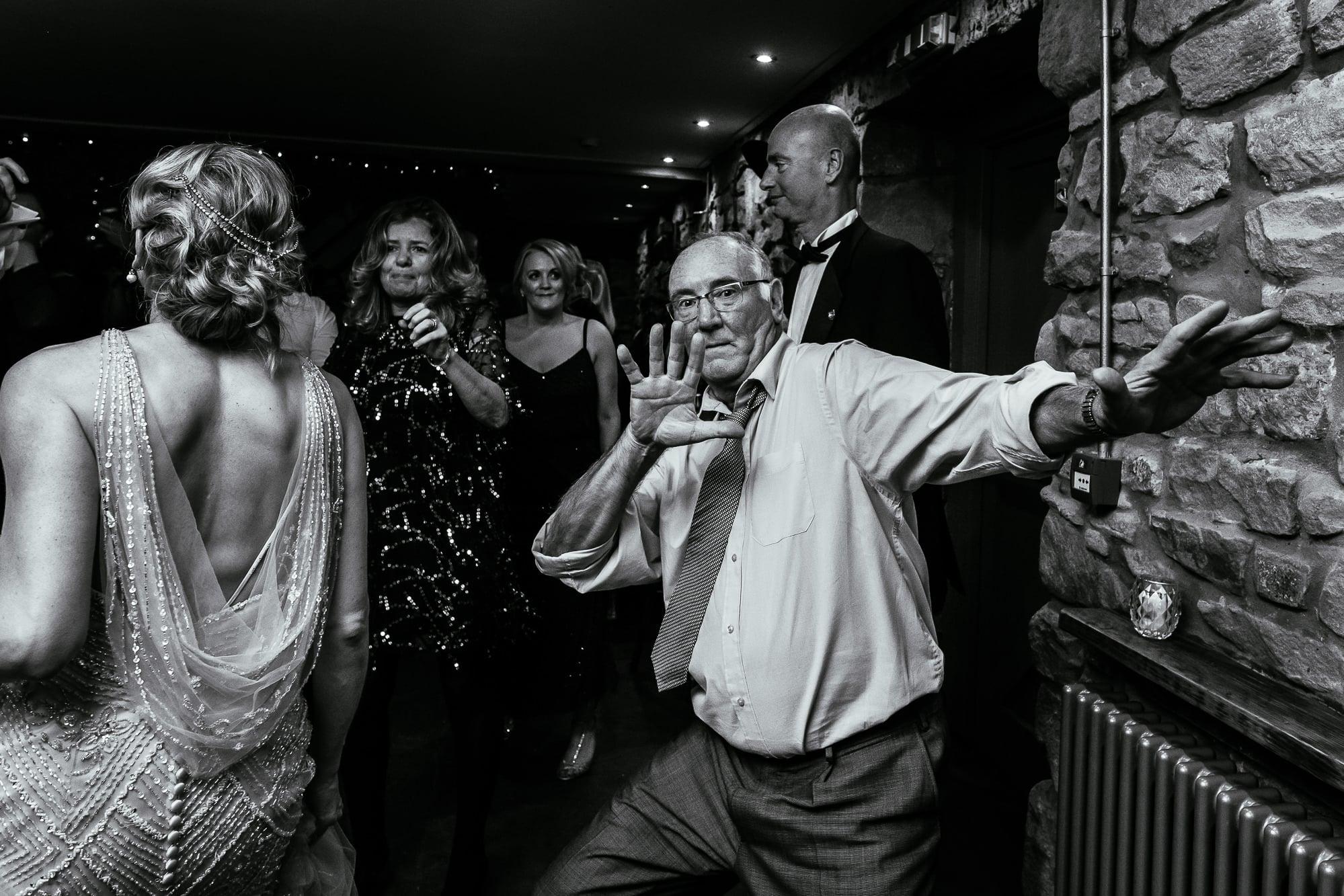 Man dancing at Tower Hill Barns