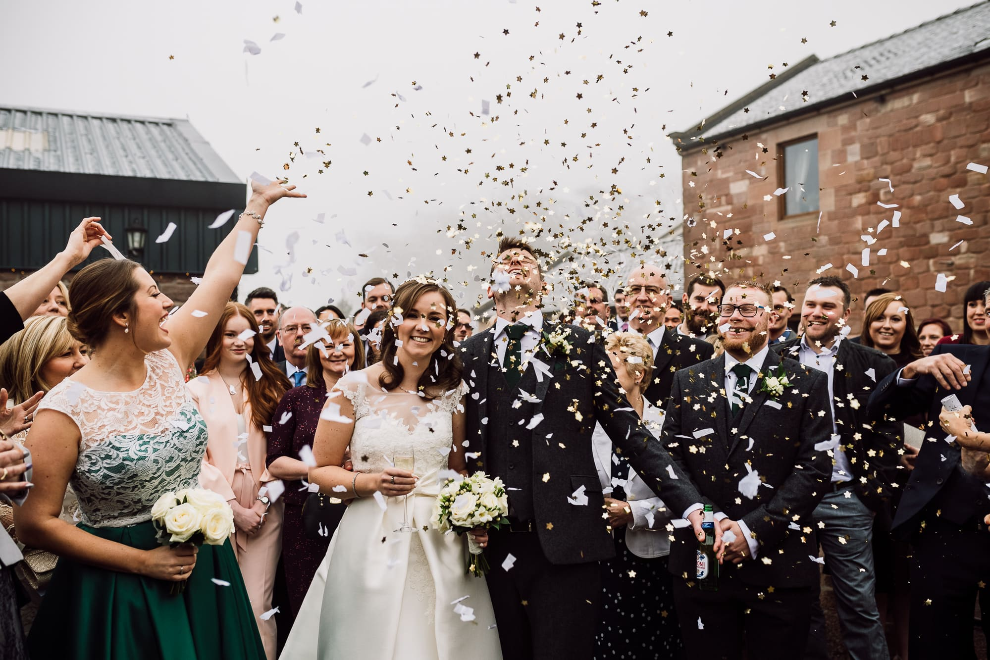 Confetti at Heaton House Farm