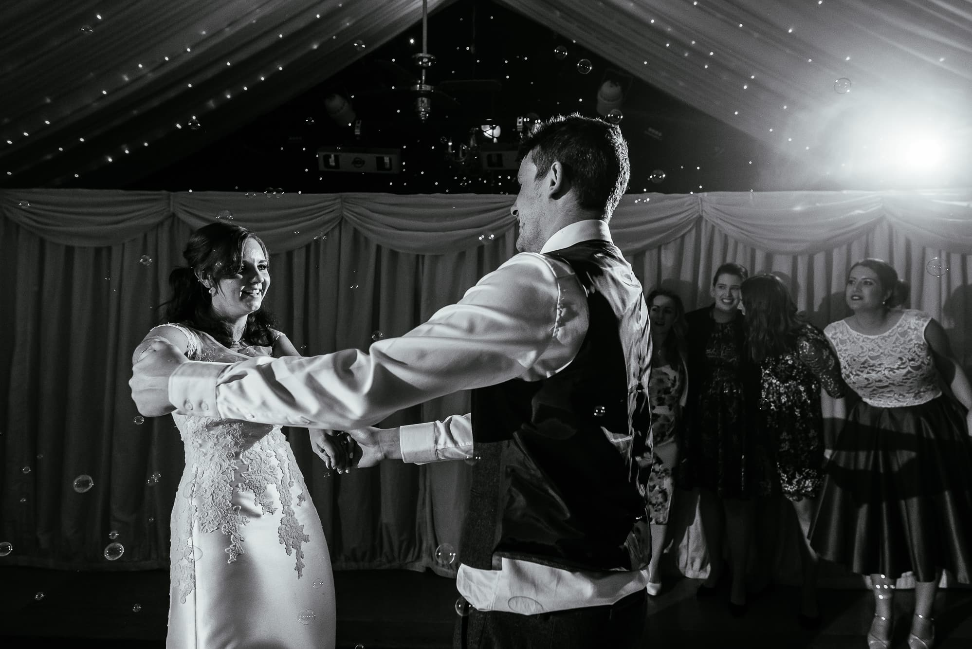 Bride and groom first dance at Heaton House Farm