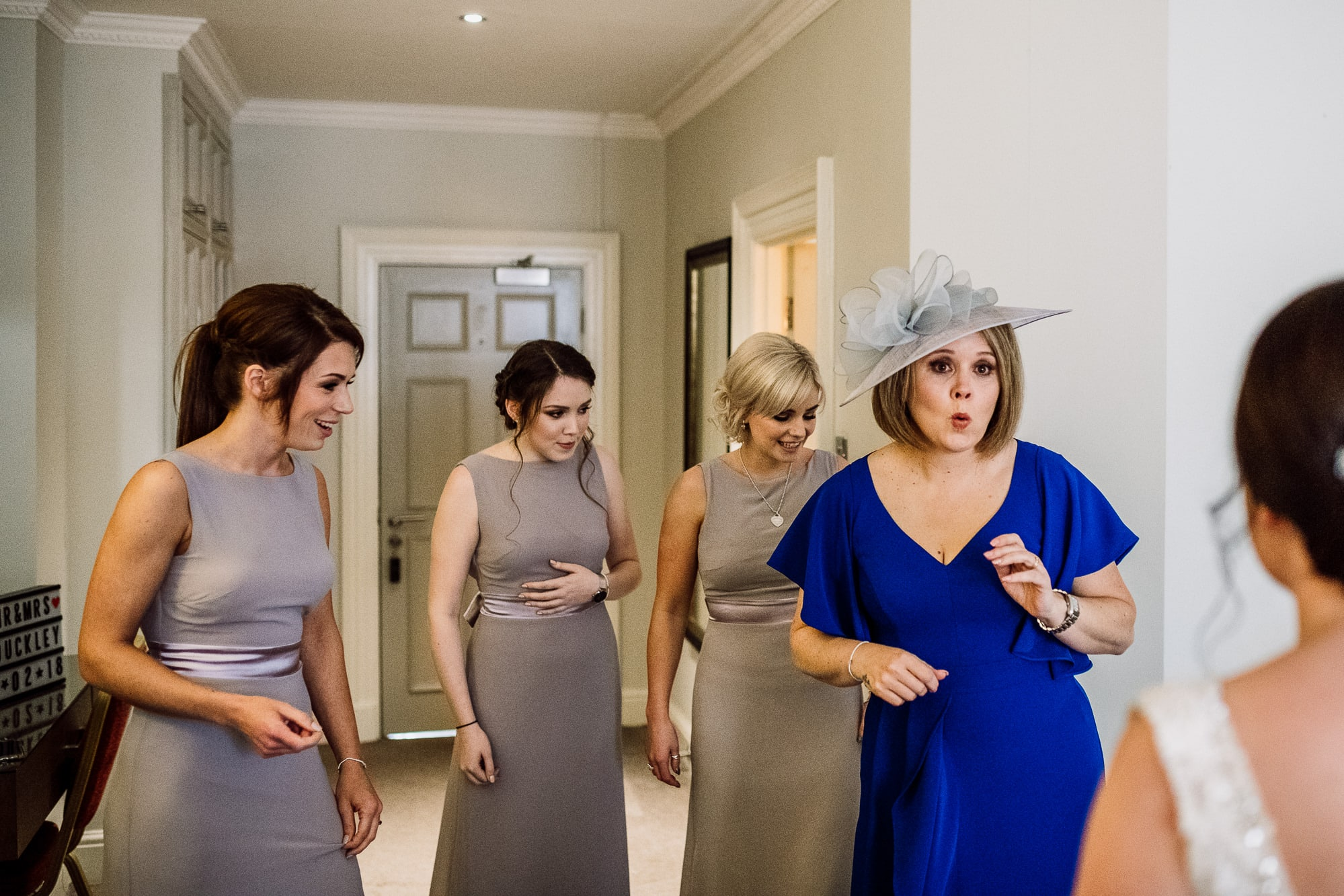 First look for the bridesmaids and the mother of the bride