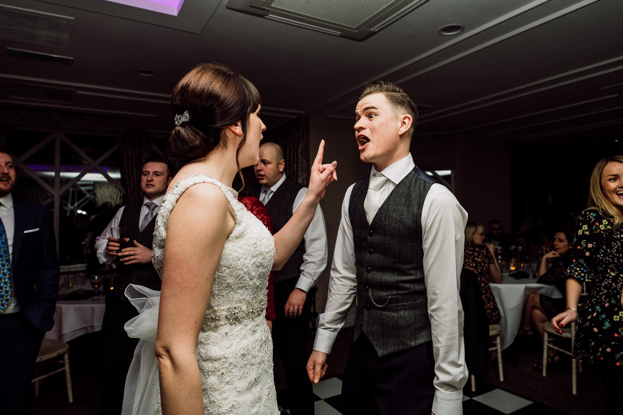 Bride tells off the groom