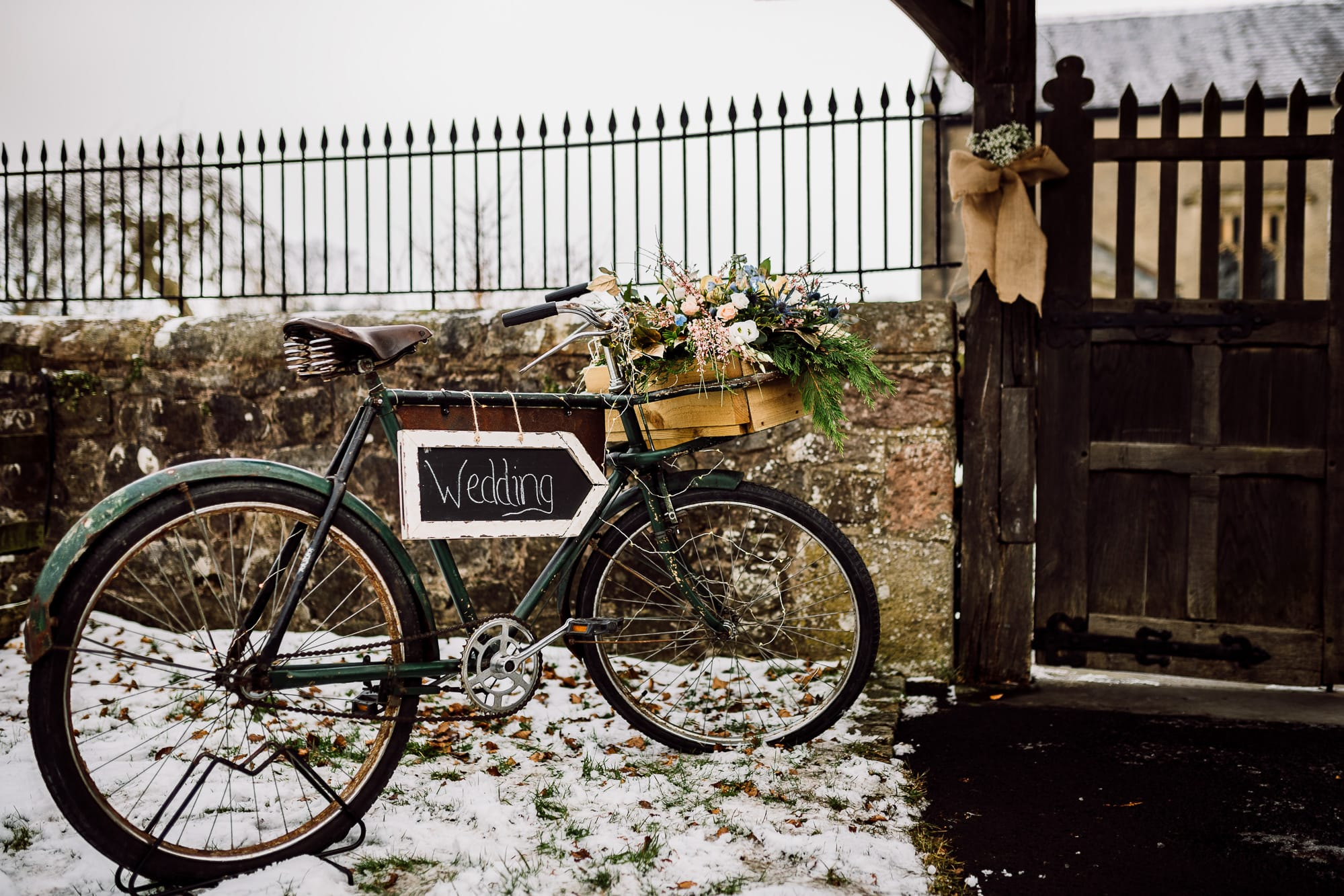A photo of a bike at the Inn at Whitewell