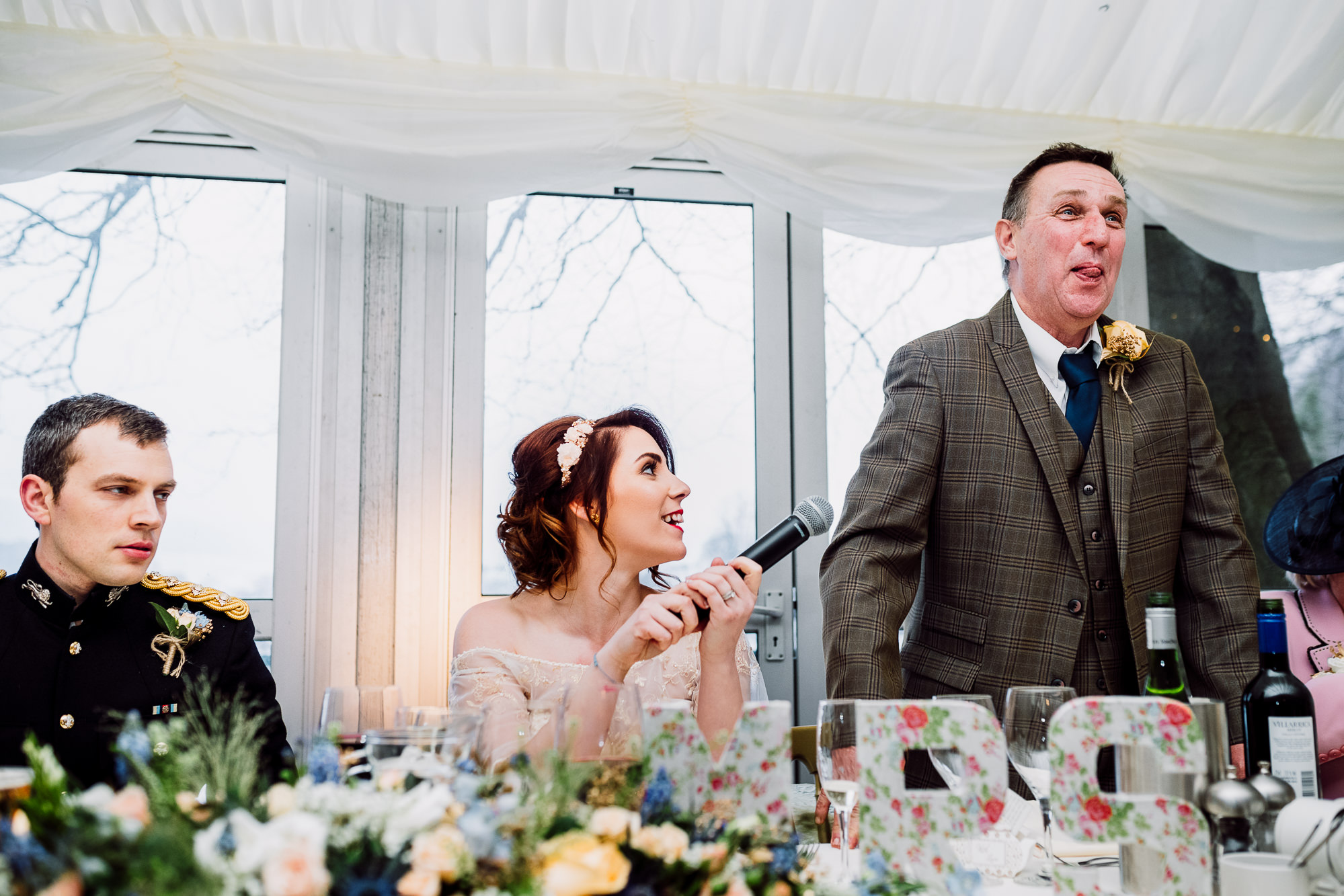 Father of the bride speech in the Marquee