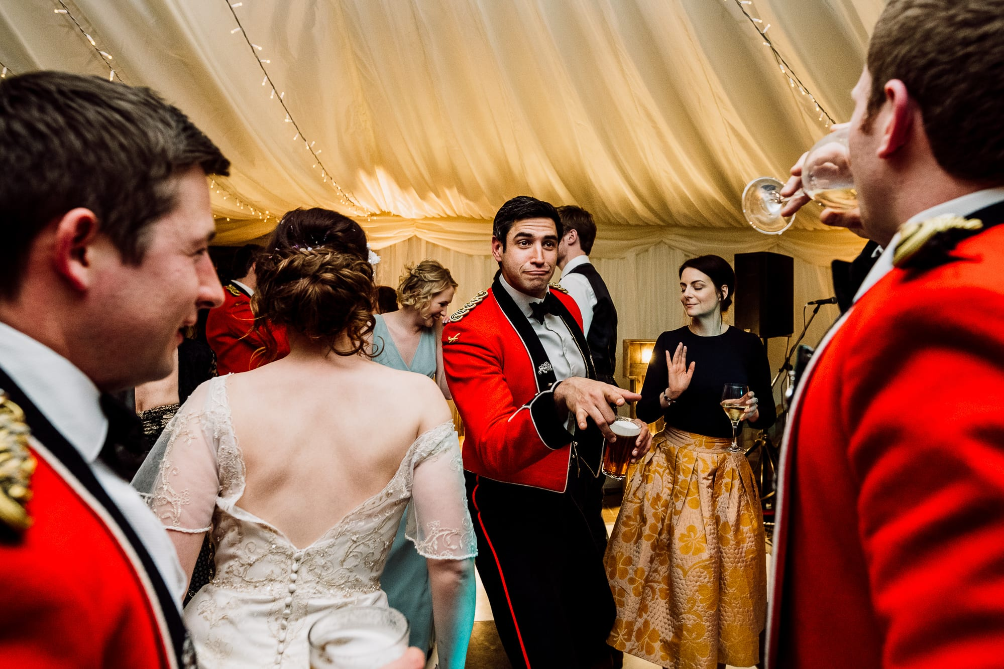 Guests dancing at the Inn at Whitewell