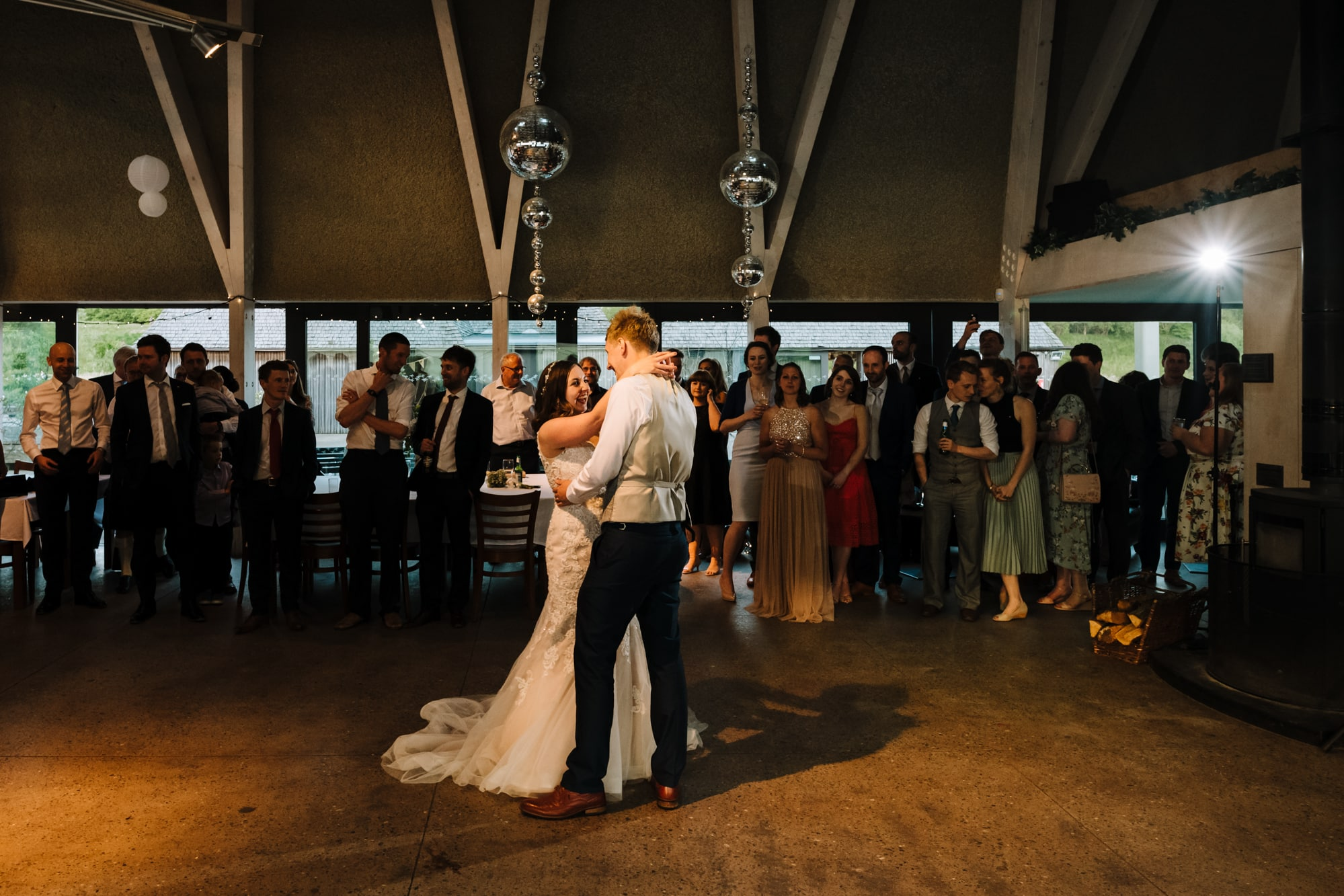 A photo of first dance at Brockholes Nature Reserve