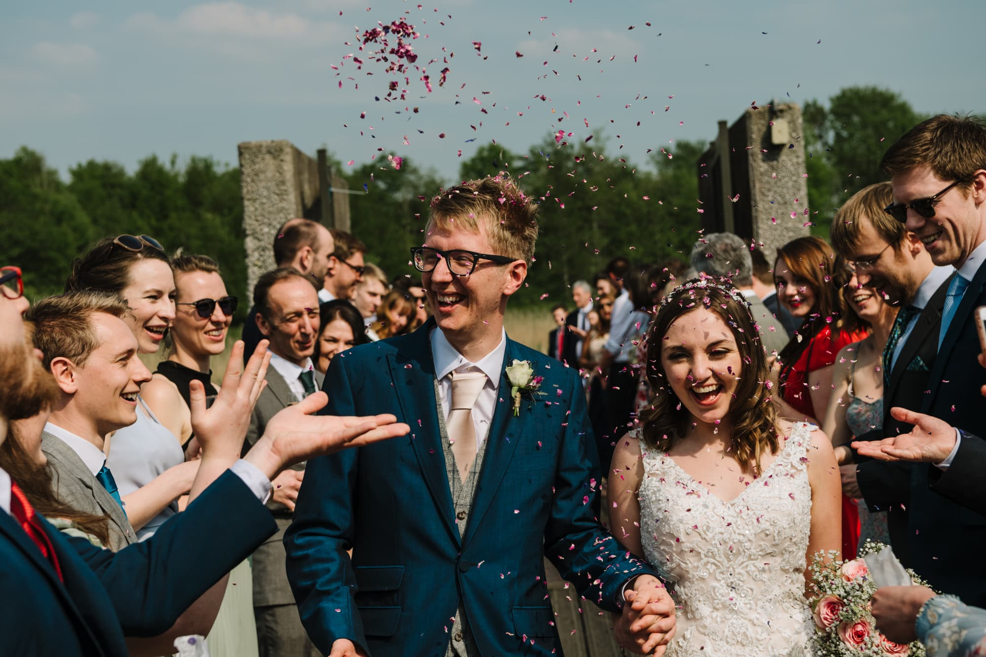 Confetti shot at Brockholes Nature Reserve